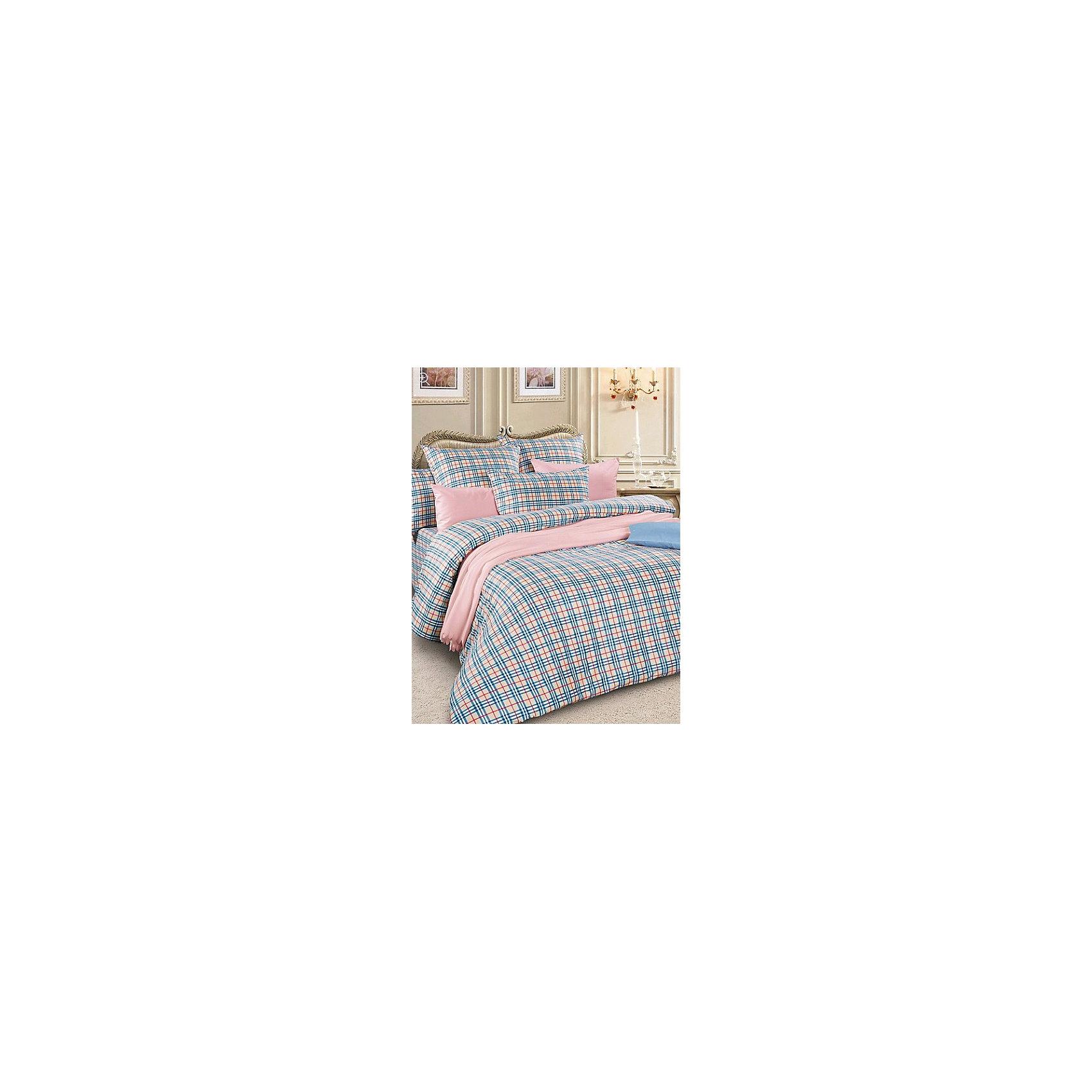 Letto Постельное белье Евро SM57 сатин, (нав.70х70), Letto комплект белья letto народные узоры 1 5 спальный наволочки 70х70 цвет красный белый бордовый