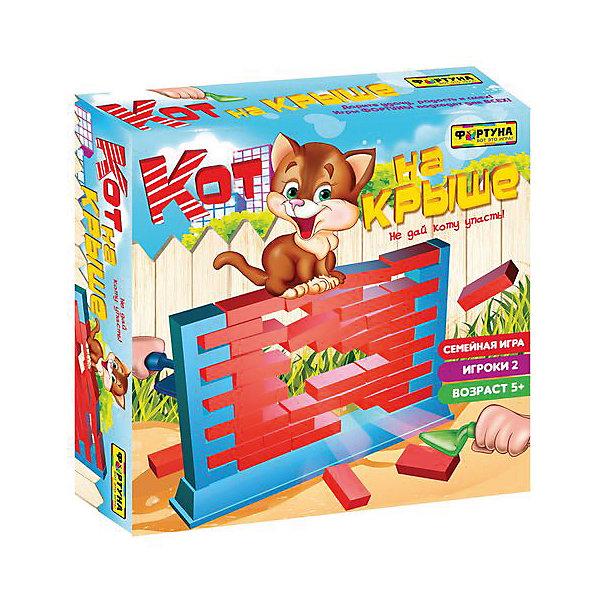 Настольная игра Кот на крыше , ФортунаНастольные игры для всей семьи<br>Характеристики:<br><br>• Вид игр: настольные игры<br>• Пол: универсальный<br>• Материал: пластик, картон<br>• Количество игроков: от 2-х человек<br>• Размер (Д*Ш*В): 27*7*27 см<br>• Вес: 500 г<br>• Комплектация: рамка-основание стены, кирпичики, 2 шпателя, фигурка кота, инструкция<br><br>Настольная игра Кот на крыше, Фортуна от отечественного производителя, специализирующегося на данного вида играх, предназначена для веселого времяпрепровождения от двух человек. Цель игры заключается в том, чтобы не уронить со стены кота во время вынимания мастерком кирпичиков из стены. Элементы игры выполнены из качественного и безопасного пластика, упакованы в картонную коробку. В комплекте имеется инструкция с правилами игры.<br><br>Настольные игры от Фортуны научат ребенка внимательности, усидчивости, позволят ему развивать, тактическое, стратегическое и логическое мышление. Игры с несколькими участниками позволяют в легкой форме осваивать социальные навыки взаимодействия и выстраивать коммуникацию с другими участниками игры. Настольная игра Кот на крыше, Фортуна может стать прекрасным вариантом в качестве подарка к празднику для любого ребенка! <br><br>Настольную игру Кот на крыше, Фортуна можно купить в нашем интернет-магазине.<br><br>Ширина мм: 270<br>Глубина мм: 55<br>Высота мм: 270<br>Вес г: 550<br>Возраст от месяцев: 60<br>Возраст до месяцев: 2147483647<br>Пол: Унисекс<br>Возраст: Детский<br>SKU: 5121944