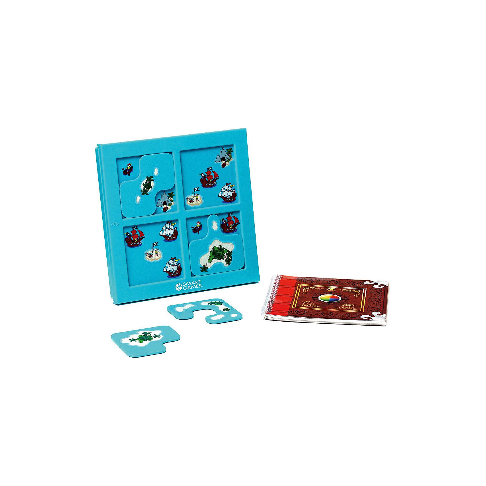 Логическая игра Прятки, пираты, BondibonНастольные игры<br>Характеристики:<br><br>• Вид игр: настольные игры<br>• Пол: универсальный<br>• Материал: пластик, бумага, картон<br>• Количество игроков: 1<br>• Количество уровней сложности: 4<br>• Количество заданий: 48<br>• Размер (Д*Ш*В): 24*5*24 см<br>• Вес: 635 г<br>• Комплектация: рамка-игровое поле, пазлы, буклет с заданиями, инструкция<br><br>Логическая игра Прятки, пираты, Bondibon – это настольная игра от всемирно известного производителя детских игр развивающей и обучающей направленности. Smart Games – это серия логических игр, предназначенная для одного игрока с несколькими уровнями сложности и множеством заданий. Цель игры Прятки, пираты заключается в том, чтобы выставить игровые пазлы на поле таким образом, как это изображено в задании. Элементы игры выполнены из качественного и безопасного пластика, упакованы в картонную коробку. В комплекте имеется инструкция с правилами игры и буклет с заданиями.<br><br>Логические игры Smart Games от Bondibon научат ребенка логическому и пространственному мышлению, концентрации внимания и выработке индивидуальной тактики решения игровых задач. Настольные игры от Bondibon – залог развития успешности вашего ребенка в будущем! <br><br>Логическую игру Прятки, пираты, Bondibon можно купить в нашем интернет-магазине.<br><br>Ширина мм: 240<br>Глубина мм: 50<br>Высота мм: 240<br>Вес г: 739<br>Возраст от месяцев: 60<br>Возраст до месяцев: 120<br>Пол: Унисекс<br>Возраст: Детский<br>SKU: 5121949