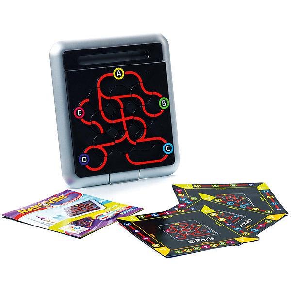 Логическая игра Метро, BondibonСтратегические настольные игры<br>Характеристики:<br><br>• Вид игр: настольные игры<br>• Пол: универсальный<br>• Материал: пластик, бумага, картон<br>• Количество игроков: 1<br>• Количество уровней сложности: 4<br>• Количество заданий: 64<br>• Размер (Д*Ш*В): 24*6*24 см<br>• Вес: 470 г<br>• Комплектация: рамка-игровое поле, 9 вращающихся фигурок, 9 карточек с заданиями, инструкция<br><br>Логическая игра Метро, Bondibon – это настольная игра от всемирно известного производителя детских игр развивающей и обучающей направленности. Smart Games – это серия логических игр, предназначенная для одного игрока с несколькими уровнями сложности и множеством заданий. Цель игры Метро заключается в том, чтобы расположить вращающиеся элементы рельсов в соответствии с заданием, указанным в карточке. Элементы игры выполнены из качественного и безопасного пластика, упакованы в картонную коробку. В комплекте имеется инструкция с правилами игры и буклет с заданиями.<br><br>Логические игры Smart Games от Bondibon научат ребенка логическому и пространственному мышлению, концентрации внимания и выработке индивидуальной тактики решения игровых задач. Настольные игры от Bondibon – залог развития успешности вашего ребенка в будущем! <br><br>Логическую игру Метро, Bondibon можно купить в нашем интернет-магазине.<br>Ширина мм: 240; Глубина мм: 50; Высота мм: 240; Вес г: 568; Возраст от месяцев: 96; Возраст до месяцев: 144; Пол: Унисекс; Возраст: Детский; SKU: 5121955;
