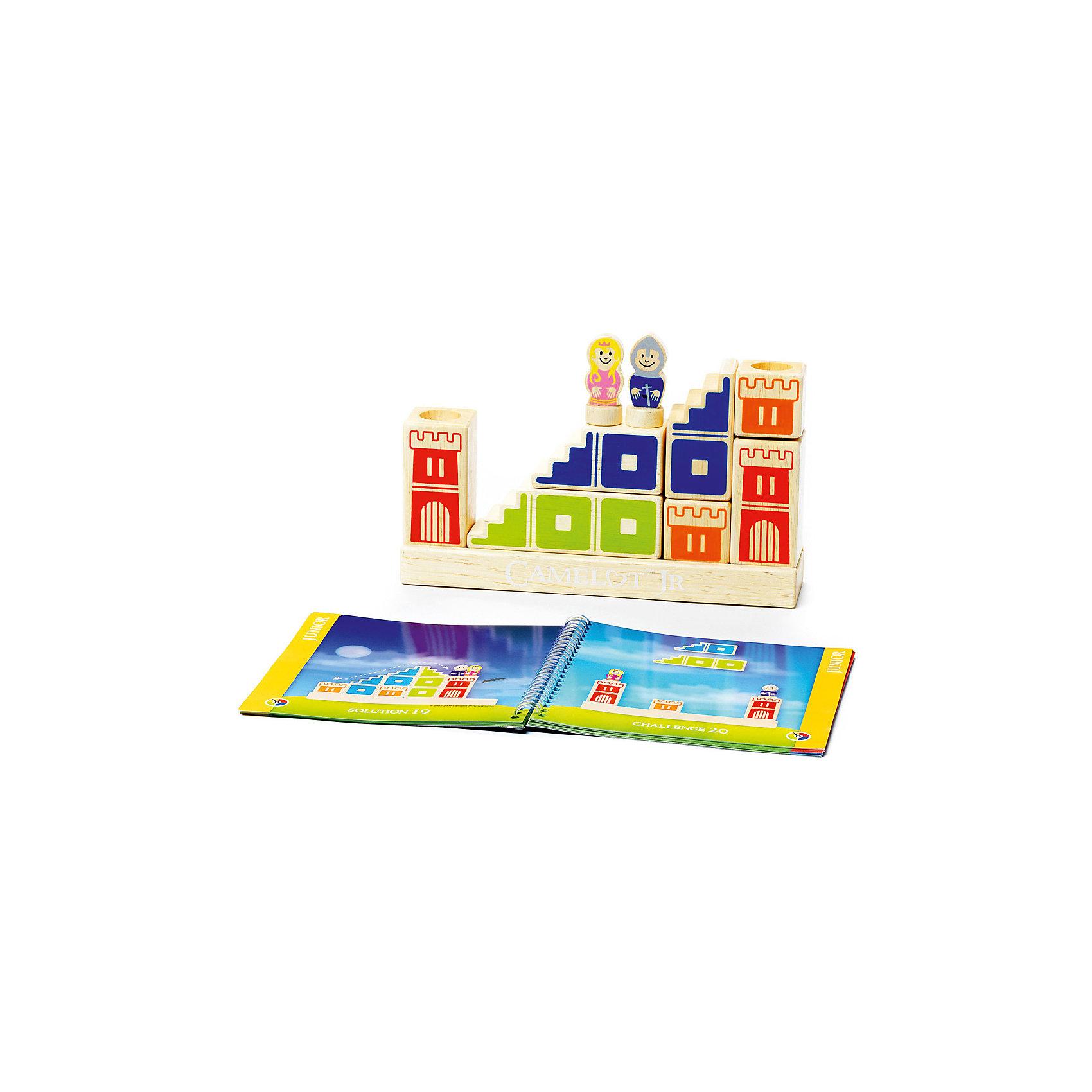 Логическая игра Камелот, BondibonНастольные игры<br>Характеристики:<br><br>• Вид игр: игра-конструктор<br>• Пол: универсальный<br>• Материал: дерево, бумага, картон<br>• Количество игроков: 1<br>• Количество уровней сложности: 4<br>• Количество заданий: 48<br>• Размер (Д*Ш*В): 24*5*24 см<br>• Вес: 1 кг 014 г<br>• Комплектация: блоки для постройки замка и моста, фигурка принцессы, фигурка принца, блокнот с заданиями, инструкция<br><br>Логическая игра Камелот, Bondibon – это настольная игра от всемирно известного производителя детских игр развивающей и обучающей направленности. Smart Games – это серия логических игр, предназначенная для одного игрока с несколькими уровнями сложности и множеством заданий. Цель игры Камелот заключается в том, чтобы помочь добраться принцу до принцессы, построив замок, башни и мост в соответствии с заданием, указанным в карточке. Элементы игры выполнены из качественного обработанного дерева, упакованы в картонную коробку. В комплекте имеется инструкция с правилами игры и буклет с заданиями.<br><br>Логические игры Smart Games от Bondibon научат ребенка логическому и пространственному мышлению, концентрации внимания и выработке индивидуальной тактики решения игровых задач. Настольные игры от Bondibon – залог развития успешности вашего ребенка в будущем! <br><br>Логическую игру Камелот, Bondibon можно купить в нашем интернет-магазине.<br><br>Ширина мм: 240<br>Глубина мм: 50<br>Высота мм: 240<br>Вес г: 950<br>Возраст от месяцев: 48<br>Возраст до месяцев: 108<br>Пол: Унисекс<br>Возраст: Детский<br>SKU: 5121957