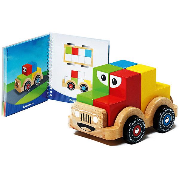 Логическая игра Smart тачка, BondibonСтратегические настольные игры<br>Характеристики:<br><br>• Вид игр: нигра-конструктор<br>• Пол: универсальный<br>• Материал: дерево, бумага, картон<br>• Количество игроков: 1<br>• Количество уровней сложности: 4<br>• Количество заданий: 48<br>• Размер (Д*Ш*В): 24*5*24 см<br>• Вес: 1 кг 014 г<br>• Комплектация: блоки для сборки автомобиля, блокнот с заданиями, инструкция<br><br>Логическая игра Smart тачка, Bondibon – это настольная игра от всемирно известного производителя детских игр развивающей и обучающей направленности. Smart Games – это серия логических игр, предназначенная для одного игрока с несколькими уровнями сложности и множеством заданий. Цель игры Smart тачка заключается в том, чтобы помочь добраться принцу до принцессы, построив замок, башни и мост в соответствии с заданием, указанным в карточке. Элементы игры выполнены из качественного обработанного дерева, упакованы в картонную коробку. В комплекте имеется инструкция с правилами игры и буклет с заданиями.<br><br>Логические игры Smart Games от Bondibon научат ребенка логическому и пространственному мышлению, концентрации внимания и выработке индивидуальной тактики решения игровых задач. Настольные игры от Bondibon – залог развития успешности вашего ребенка в будущем! <br><br>Логическую игру Smart тачка, Bondibon можно купить в нашем интернет-магазине.<br><br>Ширина мм: 250<br>Глубина мм: 65<br>Высота мм: 240<br>Вес г: 1083<br>Возраст от месяцев: 36<br>Возраст до месяцев: 96<br>Пол: Унисекс<br>Возраст: Детский<br>SKU: 5121958