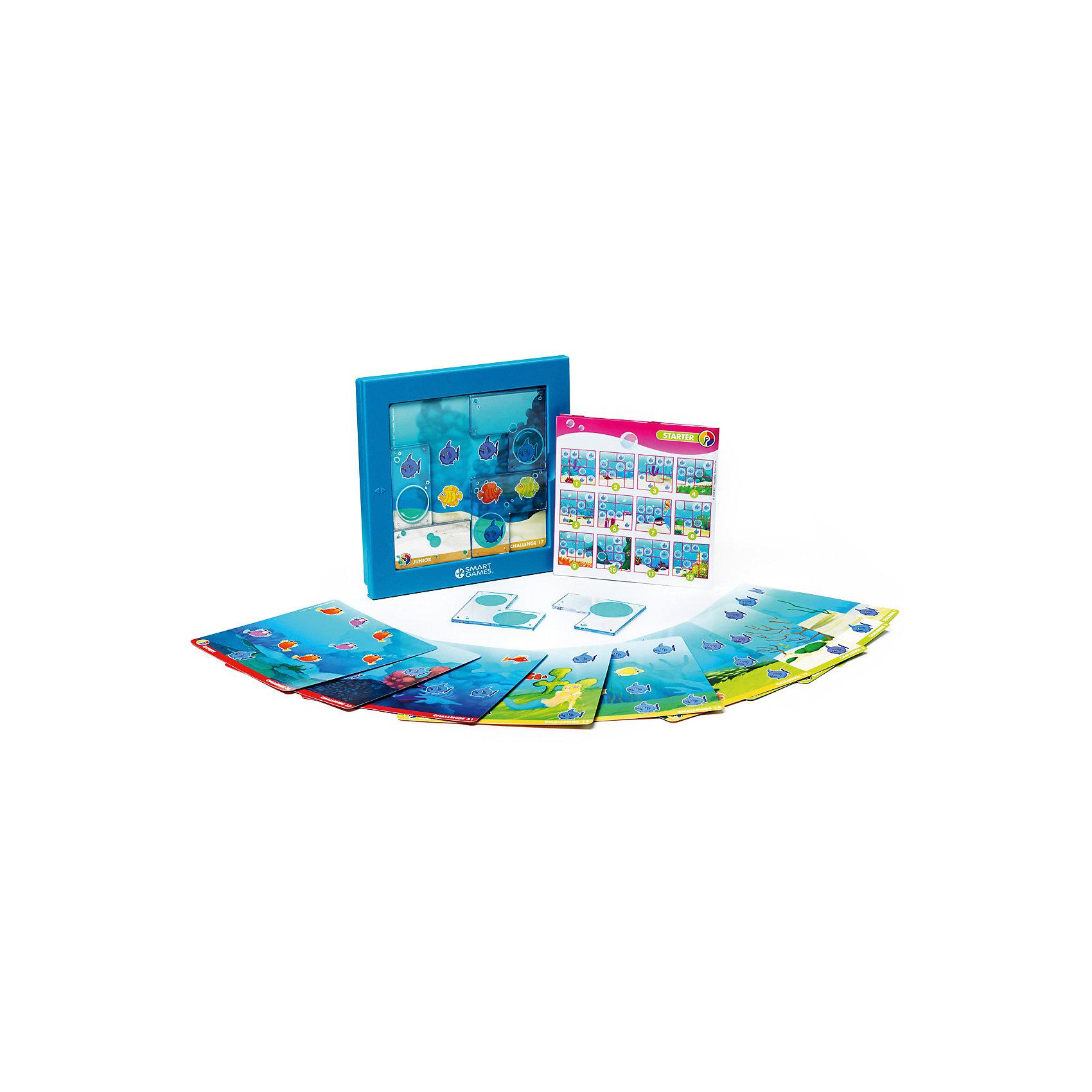 Логическая Игра русалочки, BondibonХарактеристики:<br><br>• Вид игр: настольные игры<br>• Пол: для девочки<br>• Материал: пластик, бумага, картон<br>• Количество игроков: 1<br>• Количество уровней сложности: 4<br>• Количество заданий: 48<br>• Размер (Д*Ш*В): 24*6*24 см<br>• Вес: 624 г<br>• Комплектация: игровой планшет, прозрачные детали-пазлы с изображением пузырей, блокнот с заданиями, инструкция<br><br>Логическая игра Игра русалочки, Bondibon – это настольная игра от всемирно известного производителя детских игр развивающей и обучающей направленности. Smart Games – это серия логических игр, предназначенная для одного игрока с несколькими уровнями сложности и множеством заданий. Цель игры Игра русалочки: расположить элементы-пазлы таким образом, чтобы все хищные рыбы оказались в пузырях. Элементы игры выполнены из качественного и безопасного пластика, упакованы в картонную коробку. В комплекте имеется инструкция с правилами игры и буклет с заданиями.<br><br>Логические игры Smart Games от Bondibon научат ребенка логическому и пространственному мышлению, концентрации внимания и выработке индивидуальной тактики решения игровых задач. Настольные игры от Bondibon – залог развития успешности вашего ребенка в будущем! <br><br>Логическую игру Игра русалочки, Bondibon можно купить в нашем интернет-магазине.<br><br>Ширина мм: 240<br>Глубина мм: 50<br>Высота мм: 240<br>Вес г: 738<br>Возраст от месяцев: 48<br>Возраст до месяцев: 108<br>Пол: Женский<br>Возраст: Детский<br>SKU: 5121960