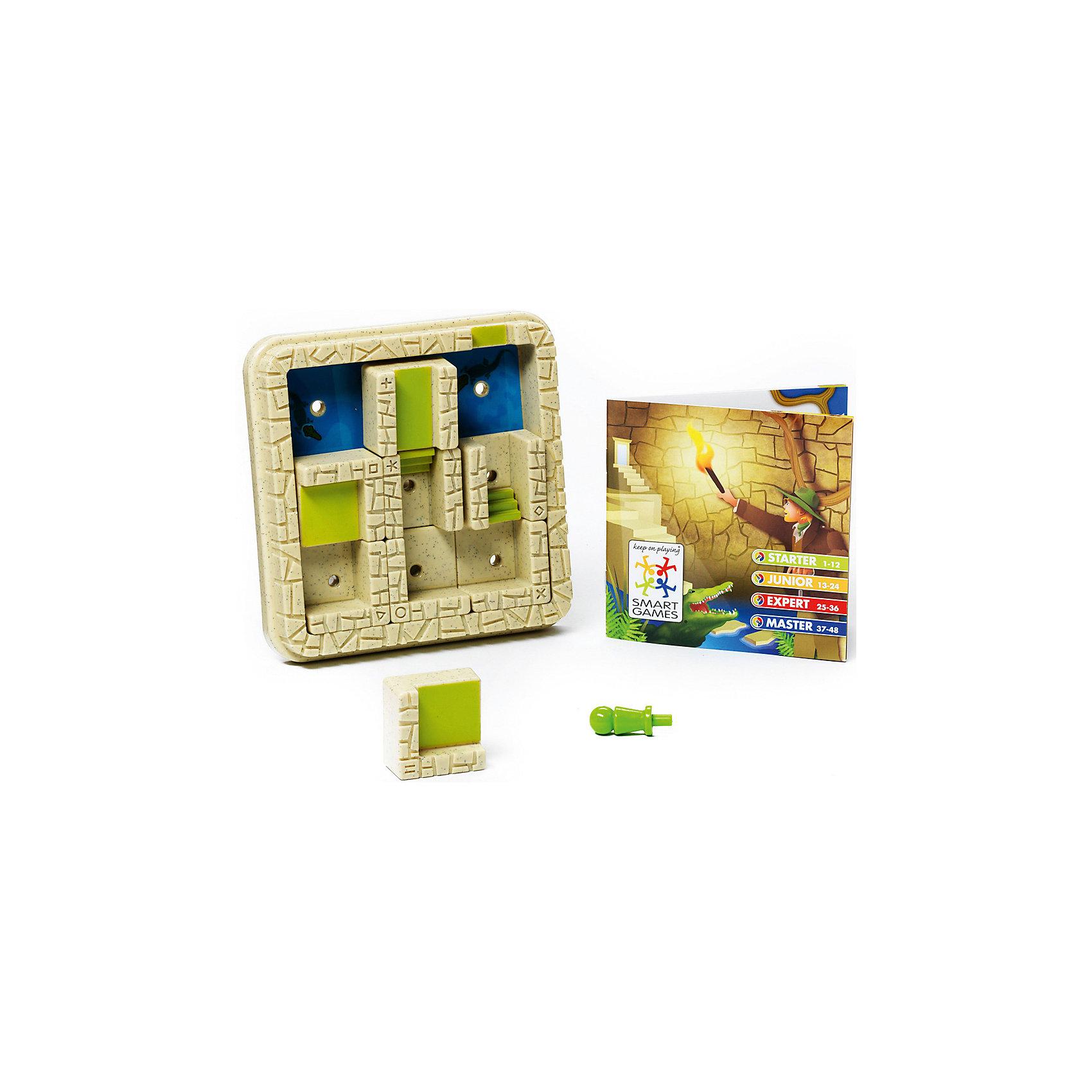 Логическая игра Лабиринт, BondibonСтратегические настольные игры<br>Характеристики:<br><br>• Вид игр: настольные игры<br>• Пол: универсальный<br>• Материал: пластик, бумага, картон<br>• Количество игроков: 1<br>• Количество уровней сложности: 4<br>• Количество заданий: 48<br>• Размер (Д*Ш*В): 24*6*24 см<br>• Вес: 450 г<br>• Комплектация: игровое поле со стенами, 8 деталей с элементами лабиринта, игровая фишка, блокнот с заданиями, инструкция<br><br>Логическая игра Лабиринт, Bondibon – это настольная игра от всемирно известного производителя детских игр развивающей и обучающей направленности. Smart Games – это серия логических игр, предназначенная для одного игрока с несколькими уровнями сложности и множеством заданий. Цель игры Лабиринт заключается в том, чтобы найти выход из лабиринта, не попавшись голодным крокодилам. Элементы игры выполнены из качественного и безопасного пластика, упакованы в картонную коробку. В комплекте имеется инструкция с правилами игры и буклет с заданиями.<br><br>Логические игры Smart Games от Bondibon научат ребенка логическому и пространственному мышлению, концентрации внимания и выработке индивидуальной тактики решения игровых задач. Настольные игры от Bondibon – залог развития успешности вашего ребенка в будущем! <br><br>Логическую игру Лабиринт, Bondibon можно купить в нашем интернет-магазине.<br><br>Ширина мм: 160<br>Глубина мм: 50<br>Высота мм: 190<br>Вес г: 367<br>Возраст от месяцев: 84<br>Возраст до месяцев: 2147483647<br>Пол: Унисекс<br>Возраст: Детский<br>SKU: 5121961