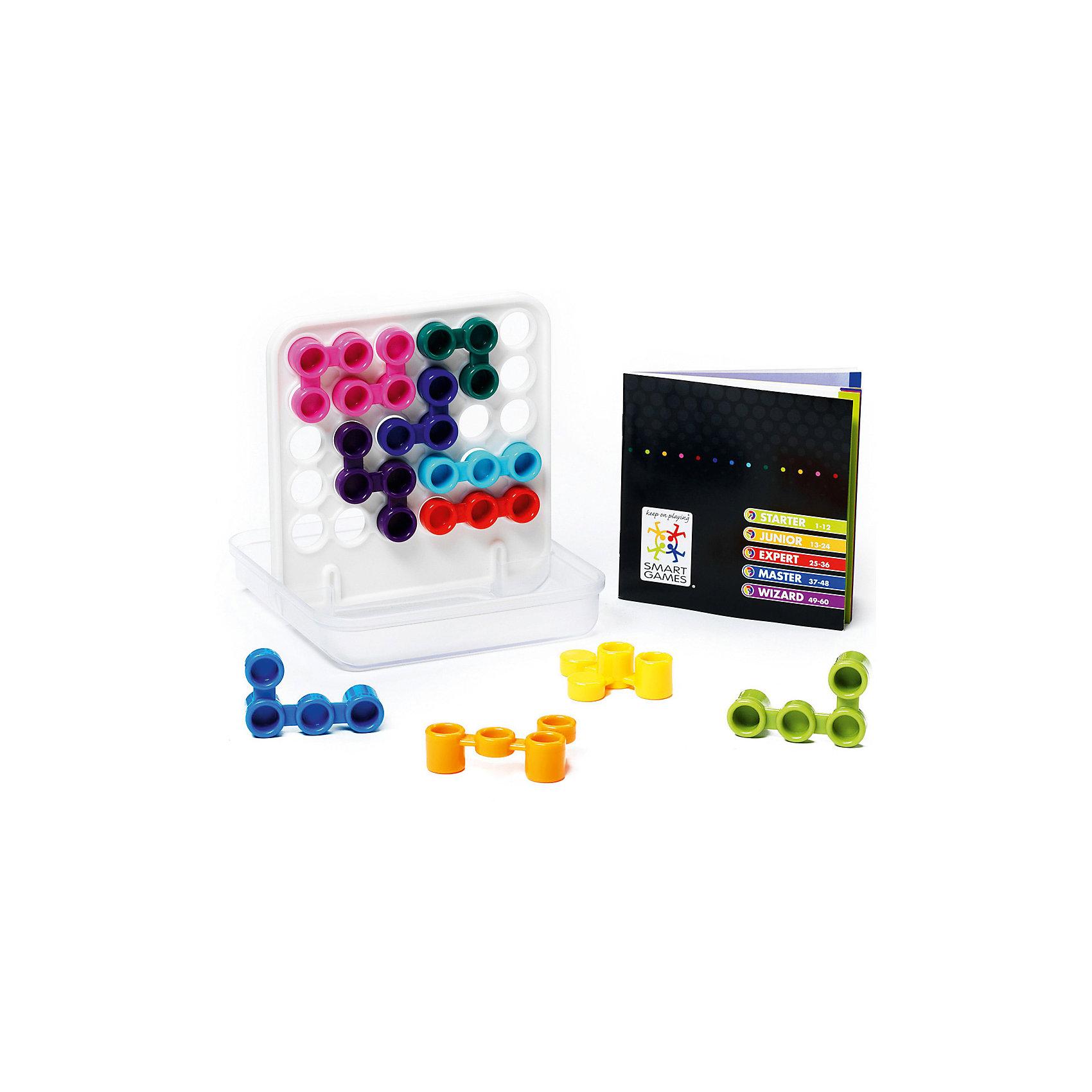Логическая игра Дуплекс, BondibonНастольные игры<br>Характеристики:<br><br>• Вид игр: настольные игры<br>• Пол: универсальный<br>• Материал: пластик, бумага, картон<br>• Количество игроков: 1<br>• Количество уровней сложности: 5<br>• Количество заданий: 60<br>• Размер (Д*Ш*В): 15,5*5,5*18 см<br>• Вес: 360 г<br>• Комплектация: игровая двухсторонняя доска, 11 разноцветных деталей, блокнот с заданиями и ответами, инструкция<br><br>Логическая игра Дуплекс, Bondibon – это настольная игра от всемирно известного производителя детских игр развивающей и обучающей направленности. Smart Games – это серия логических игр, предназначенная для одного игрока с несколькими уровнями сложности и множеством заданий. Цель игры Дуплекс заключается в том, чтобы закрыть все видимые отверстия за счет расположения разноцветных элементов на поле. Элементы игры выполнены из качественного и безопасного пластика, упакованы в картонную коробку. В комплекте имеется инструкция с правилами игры и буклет с заданиями.<br><br>Логические игры Smart Games от Bondibon научат ребенка логическому и пространственному мышлению, концентрации внимания и выработке индивидуальной тактики решения игровых задач. Настольные игры от Bondibon – залог развития успешности вашего ребенка в будущем! <br><br>Логическую игру Дуплекс, Bondibon можно купить в нашем интернет-магазине.<br><br>Ширина мм: 155<br>Глубина мм: 50<br>Высота мм: 180<br>Вес г: 358<br>Возраст от месяцев: 84<br>Возраст до месяцев: 2147483647<br>Пол: Унисекс<br>Возраст: Детский<br>SKU: 5121963