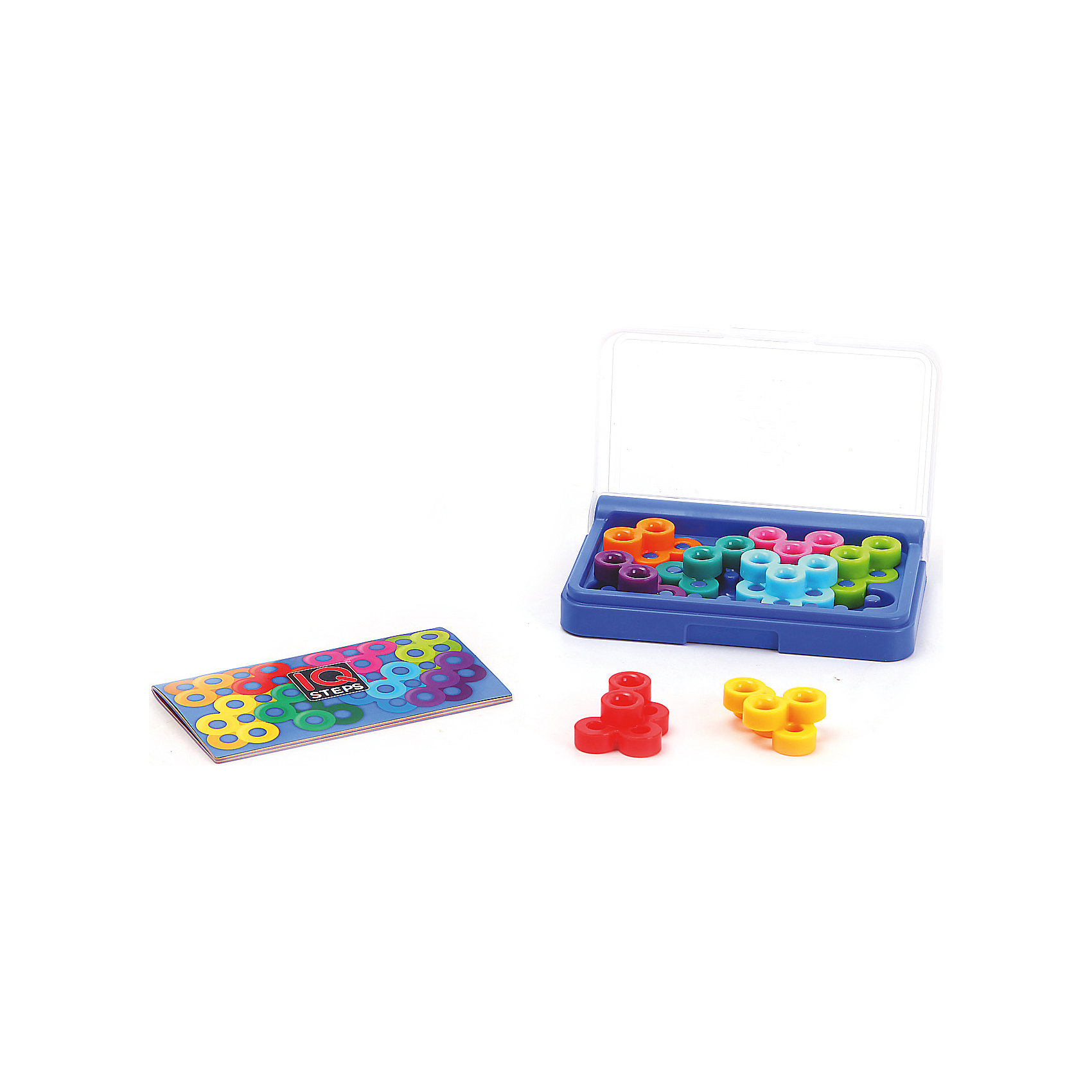 Логическая игра Iq-шаги, BondibonНастольные игры<br>Характеристики:<br><br>• Вид игр: карманная мини-игра<br>• Пол: универсальный<br>• Материал: пластик, бумага, картон<br>• Количество игроков: 1<br>• Количество уровней сложности: 5<br>• Количество заданий: 120<br>• Размер (Д*Ш*В): 14,3*2,5*9,5 см<br>• Вес: 190 г<br>• Комплектация: игровое поле, 8 разноцветных деталей, блокнот с заданиями и ответами, инструкция<br><br>Логическая игра Iq-шаги, Bondibon – это настольная игра от всемирно известного производителя детских игр развивающей и обучающей направленности. Smart Games – это серия логических игр, предназначенная для одного игрока с несколькими уровнями сложности и множеством заданий. Цель игры Iq-шаги заключается в том, чтобы расположить на игровом поле все детали, не выходя за его границы. Элементы игры выполнены из качественного и безопасного пластика, упакованы в картонную коробку. В комплекте имеется инструкция с правилами игры и буклет с заданиями.<br><br>Логические игры Smart Games от Bondibon научат ребенка логическому и пространственному мышлению, концентрации внимания и выработке индивидуальной тактики решения игровых задач. Настольные игры от Bondibon – залог развития успешности вашего ребенка в будущем! <br><br>Логическую игру Iq-шаги, Bondibon можно купить в нашем интернет-магазине.<br><br>Ширина мм: 97<br>Глубина мм: 27<br>Высота мм: 145<br>Вес г: 208<br>Возраст от месяцев: 96<br>Возраст до месяцев: 2147483647<br>Пол: Унисекс<br>Возраст: Детский<br>SKU: 5121965
