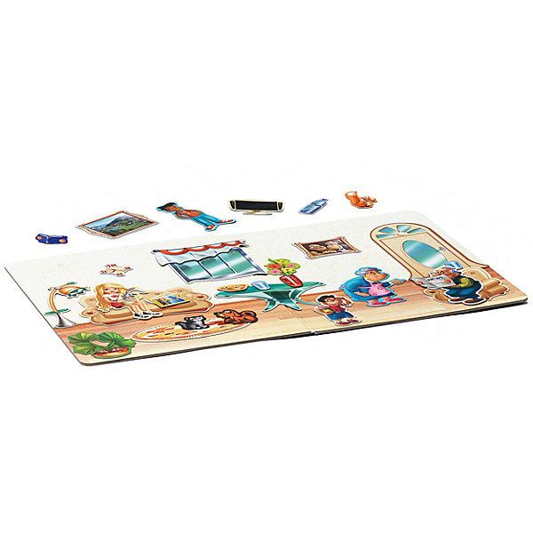 Магнитный театр Верные друзья,  71 магнит, BondibonНастольные игры для всей семьи<br>Характеристики:<br><br>• Вид игр: конструирование<br>• Пол: универсальный<br>• Материал: магнит, пластик, картон<br>• Количество деталей: 71<br>• Размер (Д*Ш*В): 26,5*4*34,5 см<br>• Вес: 1 кг 330 г<br>• Комплектация: магнитная доска, 71 магнит, инструкция<br><br>Магнитный театр Верные друзья, 71 магнит, Bondibon – это игра от всемирно известного производителя детских игр развивающей и обучающей направленности серии Smart Games. Магнитный театр состоит из 71 фигурки и одной магнитной доски. Комплектация набора позволяет разыграть любую житейскую историю, придуманную вашим ребенком. Магнитный театр от Bondibon – это не только увлекательное развлечение, но и развивающее обучение, направленное на развитие воображения, коммуникативных навыков, эмоциональности и артистичности. Игры в магнитный театр способствуют не только творческому развитию ребенка, они также обеспечивают всестороннее гармоническое развитие. Кроме того, магнитный театр Верные друзья, 71 магнит, Bondibon поможет Вам обыграть некоторые трудные и сложные воспитательные ситуации. <br><br>Магнитный театр Верные друзья, 71 магнит, Bondibon можно купить в нашем интернет-магазине.<br>Ширина мм: 345; Глубина мм: 40; Высота мм: 265; Вес г: 1330; Возраст от месяцев: 36; Возраст до месяцев: 120; Пол: Унисекс; Возраст: Детский; SKU: 5121971;