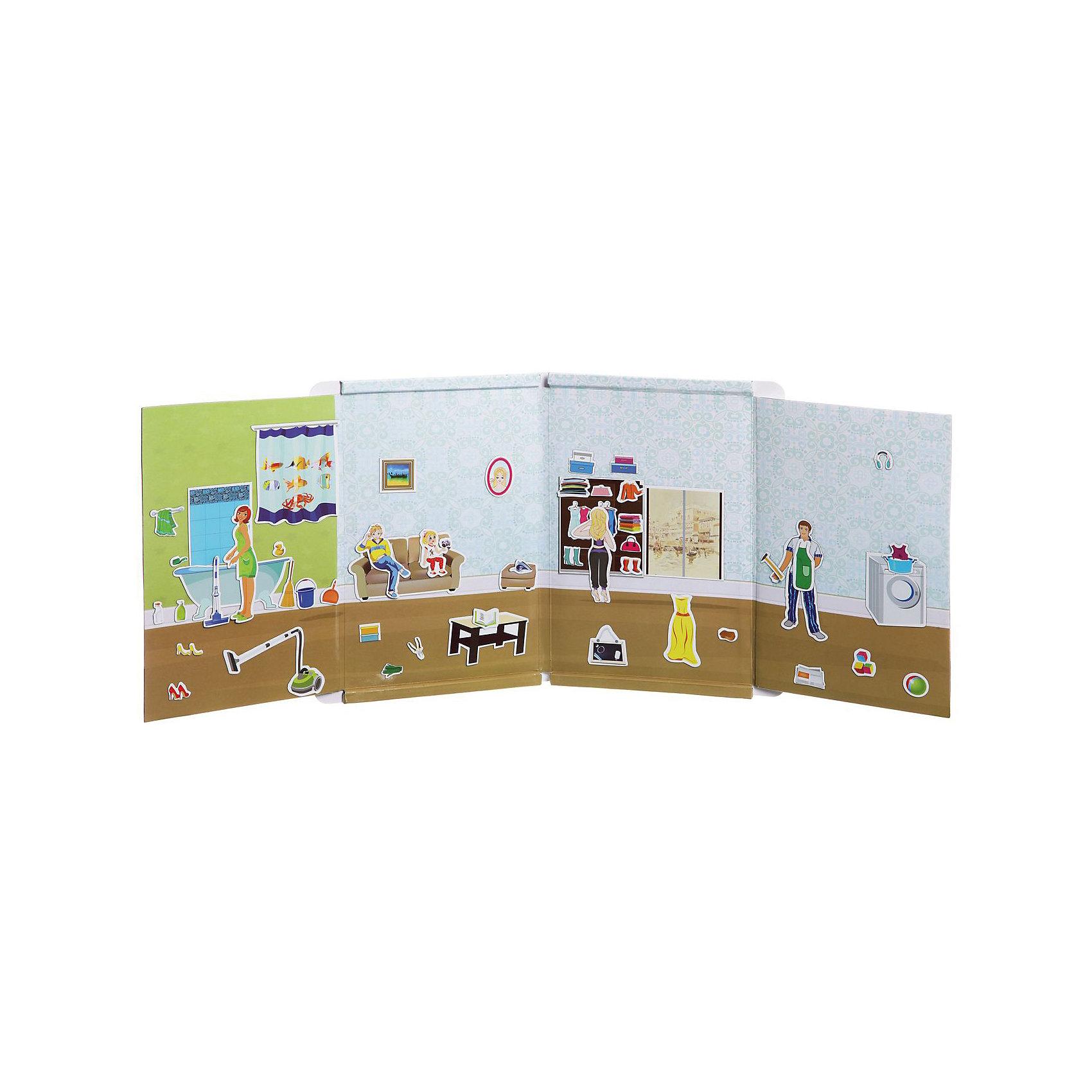 Магнитный театр Хозяюшка, 57 магнитов, BondibonНастольные игры для всей семьи<br>Характеристики:<br><br>• Вид игр: конструирование<br>• Пол: для девочек<br>• Материал: магнит, пластик, картон<br>• Количество деталей: 57<br>• Размер (Д*Ш*В): 26,5*4*34,5 см<br>• Вес: 785 г<br>• Комплектация: магнитная доска, 57 магнитов, инструкция<br><br>Магнитный театр Хозяюшка, 57 магнитов, Bondibon – это игра от всемирно известного производителя детских игр развивающей и обучающей направленности серии Smart Games. Магнитный театр состоит из 57 магнитов и одной магнитной доски. Комплектация набора позволяет разыграть любую житейскую историю, придуманную вашим ребенком. Магнитный театр от Bondibon – это не только увлекательное развлечение, но и развивающее обучение, направленное на развитие воображения, коммуникативных навыков, эмоциональности и артистичности. Игры в магнитный театр способствуют не только творческому развитию ребенка, они также обеспечивают всестороннее гармоническое развитие. Кроме того, магнитный театр Хозяюшка, 57 магнитов, Bondibon поможет Вам обыграть некоторые трудные и сложные воспитательные ситуации. <br><br>Магнитный театр Хозяюшка, 57 магнитов, Bondibon можно купить в нашем интернет-магазине.<br><br>Ширина мм: 250<br>Глубина мм: 10<br>Высота мм: 210<br>Вес г: 650<br>Возраст от месяцев: 60<br>Возраст до месяцев: 120<br>Пол: Женский<br>Возраст: Детский<br>SKU: 5121972