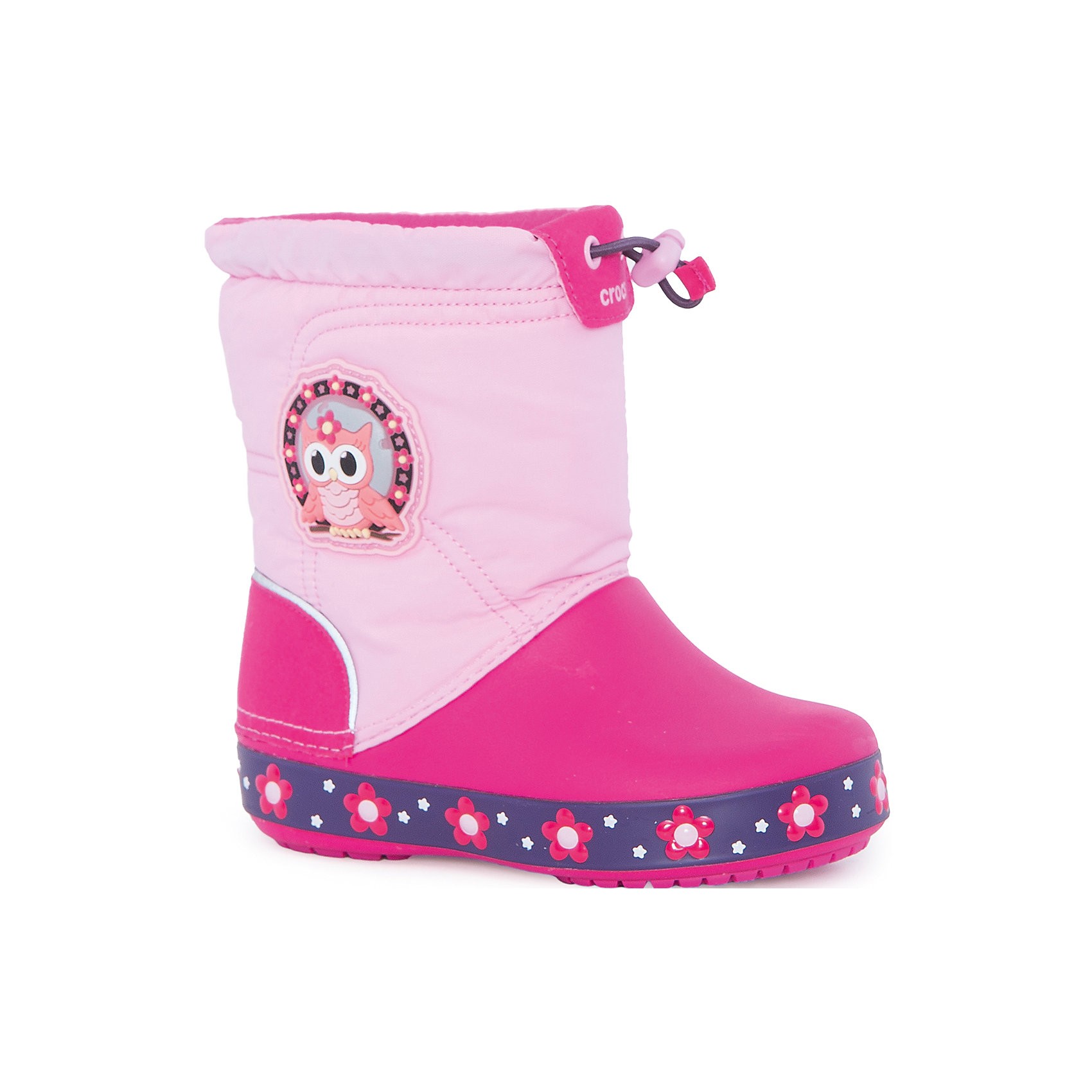 crocs Сапоги Kids' CrocsLights LodgePoint Night Owl Boot для девочки CROCS кастрюля 2 8 л taller tr 7393