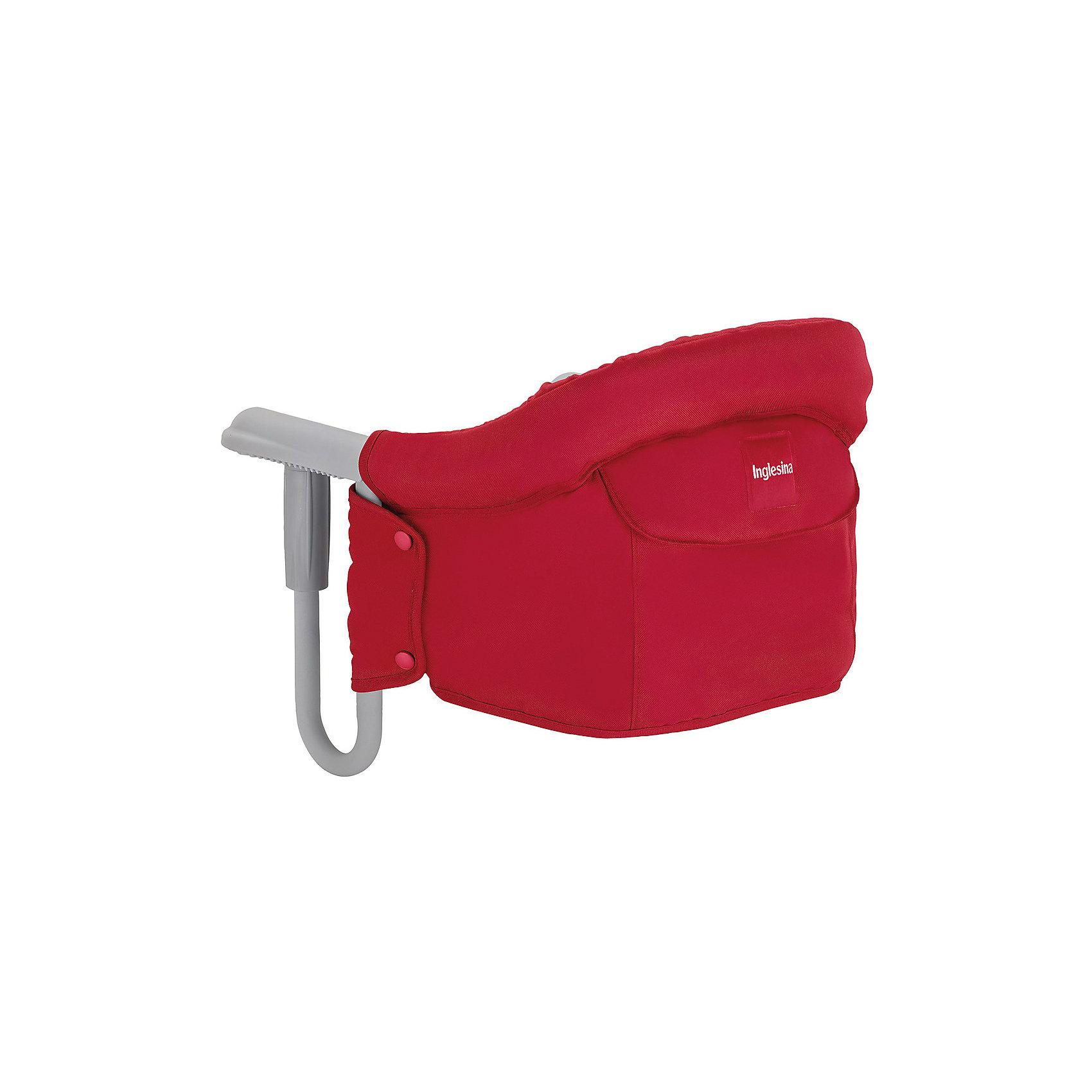Подвесной стульчик для кормления FAST, Inglesina, красныйСтульчики для кормления<br>Характеристики:<br><br>• Вид детской мебели: стульчик подвесной<br>• Пол: для девочки<br>• Материал: металл, текстиль<br>• Съемная конструкция<br>• Надежные крепления <br>• Наличие 3-х точечных ремней безопасности<br>• Наличие кармашка для мелочей<br>• Наличие сумки для переноски<br>• Максимально допустимый вес: до 15 кг<br>• Размеры стульчика в собранном виде (Д*Ш*В): 28*35*40 см<br>• Размеры упаковки (Д*Ш*В): 38*40*43,5 см<br>• Вес в упаковке: 3 кг <br>• Текстильный чехол сидения можно стирать <br><br>Внимание! Основным является первое фото, последующие фотографии размещены с целью показать функционал данной модели.<br><br>Подвесной стульчик для кормления FAST, Inglesina, красный – стульчик, предназначенный для детей, которые умеют сидеть. Стульчик имеет подвесную конструкцию, которая надежно крепится к столу. Каркас выполнен из прочного металла, сиденье – из текстиля, который можно стирать. При небольших габаритах и легком весе стульчик выдерживает вес ребенка до 15 кг. Подвесной стульчик для кормления FAST, Inglesina, красный – не только идеальный вариант для малогабаритных квартир, но и для дальних поездок или для дачи.<br><br>Подвесной стульчик для кормления FAST, Inglesina, красный можно купить в нашем интернет-магазине.<br><br>Ширина мм: 370<br>Глубина мм: 340<br>Высота мм: 110<br>Вес г: 236<br>Цвет: красный<br>Возраст от месяцев: 6<br>Возраст до месяцев: 36<br>Пол: Женский<br>Возраст: Детский<br>SKU: 5122077