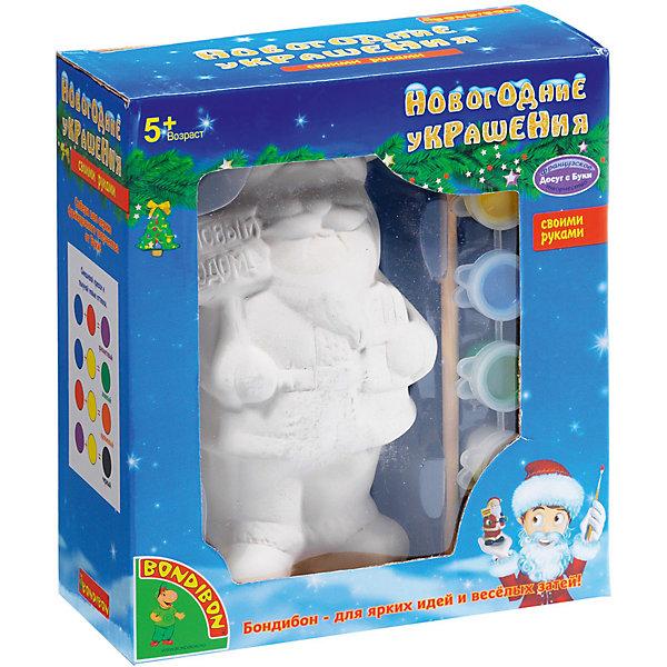 Набор для творчества Дед Мороз 14,6см, BondibonНаборы для творчества новогодние<br>Набор для творчества Дед Мороз 14,6 см, Bondibon (Бондибон). <br><br>Характеристика:<br><br>• Материал: керамика, пластик, акриловые краски. <br>• Размер упаковки: 15х7х16,5 см. <br>• Высота фигурки: 14,6 см. <br>• Комплектация: керамическая фигурка для раскрашивания (Дед Мороз), разноцветные краски (6 шт.), кисточка.<br>• Набор развивает моторику рук, фантазию и внимание. <br><br>Предложите вашему ребенку самому поучаствовать в создании фигурки главного новогоднего гостя - Деда Мороза! Яркая фигурка займет достойное место под ёлкой или же станет прекрасным сувениром, сделанным своими руками.<br>Набор для творчества от Bondibon - оригинальный и полезный подарок: создавая что-то красивое, ребенок получит массу удовольствия и положительных эмоций, а также разовьет моторику рук, фантазию, цветовосприятие и эстетический вкус.<br><br>Набор для творчества Дед Мороз 14,6 см, Bondibon (Бондибон), можно купить в нашем интернет-магазине.<br><br>Ширина мм: 150<br>Глубина мм: 70<br>Высота мм: 165<br>Вес г: 272<br>Возраст от месяцев: 60<br>Возраст до месяцев: 1188<br>Пол: Унисекс<br>Возраст: Детский<br>SKU: 5124525