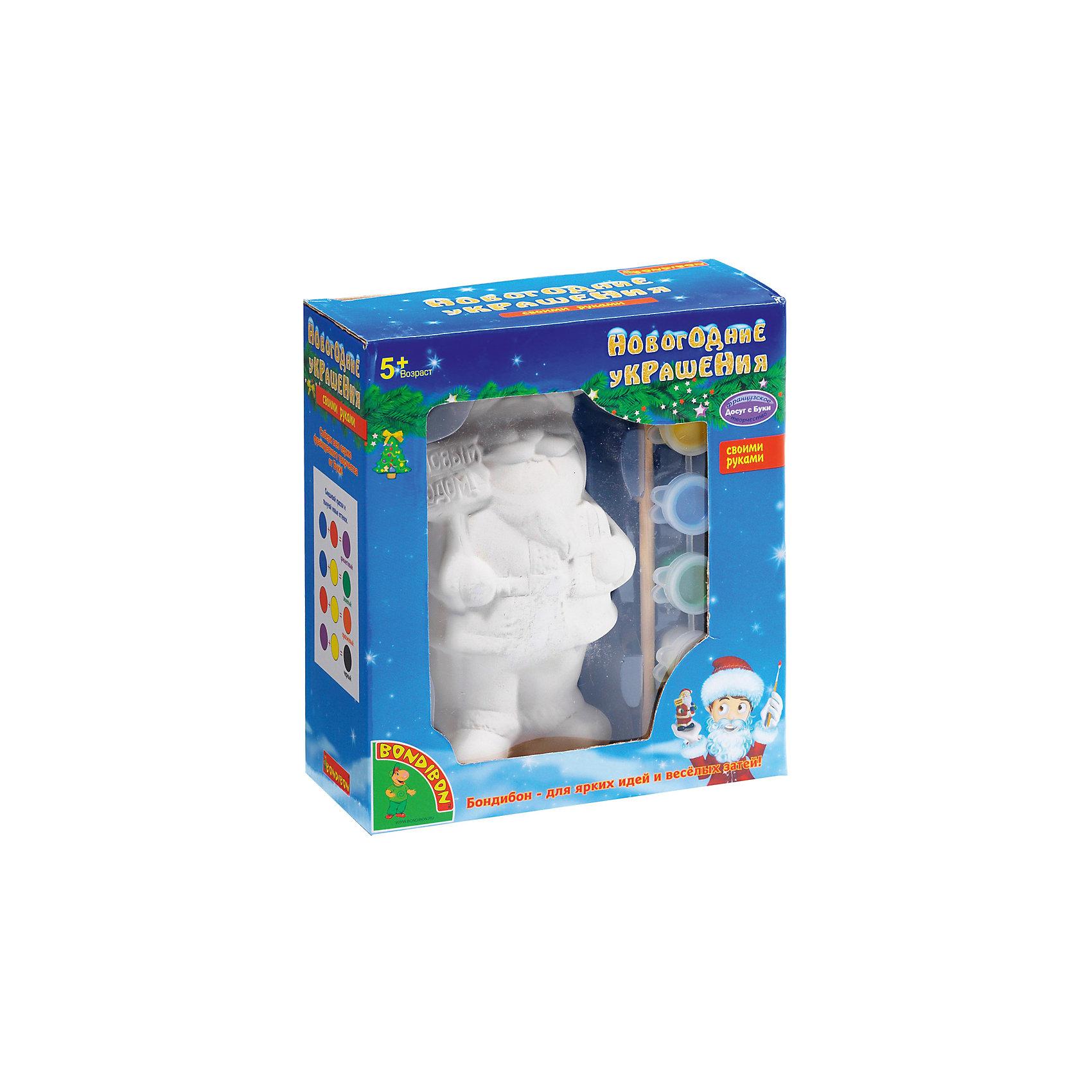 Bondibon Набор для творчества Дед Мороз 14,6см, Bondibon игровые фигурки maxitoys фигура дед мороз в плетеном кресле музыкальный