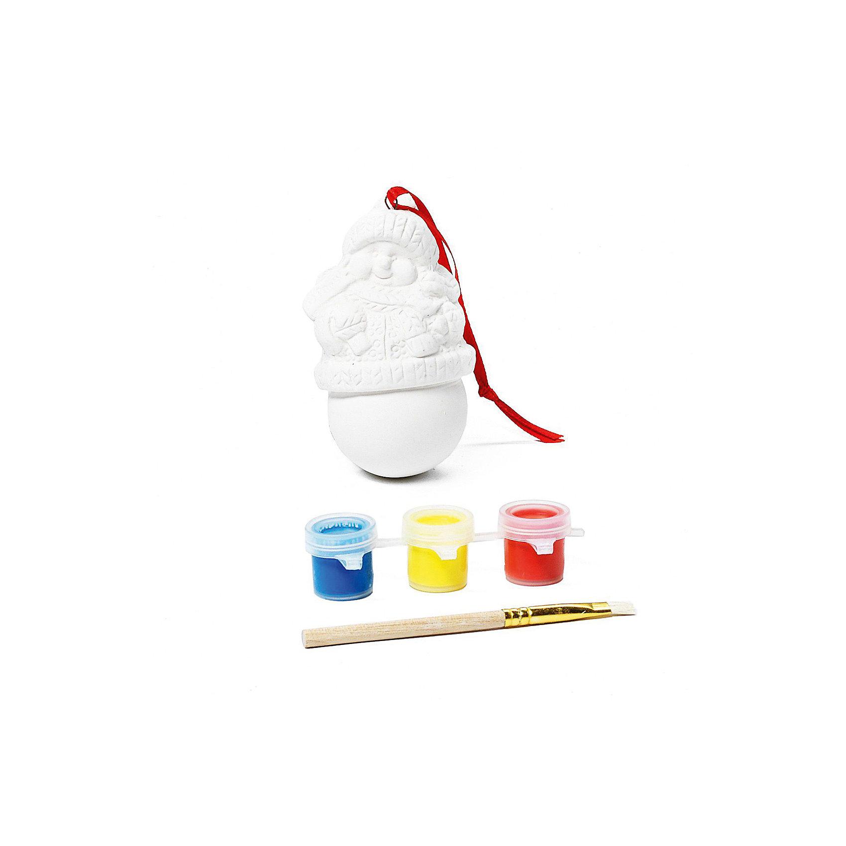 Набор для творчества Снеговик, BondibonНовогоднее творчество<br>Набор для творчества Снеговик, Bondibon (Бондибон). <br><br>Характеристика:<br><br>• Материал: керамика, пластик, акриловые краски. <br>• Размер упаковки: 12х5х15,5 см. <br>• Комплектация: фигурка для раскрашивания, разноцветные краски (3 шт.), кисточка.<br>• Набор развивает моторику рук, фантазию и внимание. <br><br>Предложите вашему ребенку самому поучаствовать в создании яркого ёлочного украшения, которое займёт достойное место на любой ёлке или же станет прекрасным новогодним сувениром, сделанным своими руками!<br>Набор для творчества от Bondibon - оригинальный и полезный подарок: создавая что-то красивое, ребенок получит массу удовольствия и положительных эмоций, а также разовьет моторику рук, фантазию, цветовосприятие и эстетический вкус.<br><br>Набор для творчества Снеговик, Bondibon (Бондибон), можно купить в нашем интернет-магазине.<br><br>Ширина мм: 120<br>Глубина мм: 55<br>Высота мм: 155<br>Вес г: 109<br>Возраст от месяцев: 60<br>Возраст до месяцев: 1188<br>Пол: Унисекс<br>Возраст: Детский<br>SKU: 5124527