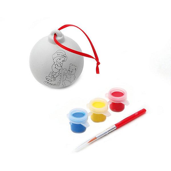 Набор для творчества Шар, BondibonНаборы для творчества<br>Набор для творчества Шар с красками и кисточкой, Bondibon (Бондибон).<br><br>Характеристики:<br><br>• Материал: керамика, краски, текстиль.<br>• В набор входит: <br>- шар для раскрашивания, <br>- краски 6 цветов,<br>- кисточка, <br>- инструкция.<br><br>Создайте новогоднее настроение вместе со своими детьми! Набор «Шар» поможет вам провести творчески досуг и создаст праздничное настроение. В наборе керамическая фигурка елочного шара, которую нужно раскрасить так, как вам подскажет фантазия. Раскрашивать изделия из керамики - очень интересно и увлекательно. Такой шар, раскрашенный вручную, станет отличным подарком! Работа с таким набором помогает развить творческие способности, усидчивость, внимательность, самостоятельность, координацию движений.<br><br>Набор для творчества Шар с красками и кисточкой, Bondibon (Бондибон), можно купить в нашем интернет – магазине.<br>Ширина мм: 110; Глубина мм: 65; Высота мм: 170; Вес г: 115; Возраст от месяцев: 60; Возраст до месяцев: 1188; Пол: Унисекс; Возраст: Детский; SKU: 5124532;