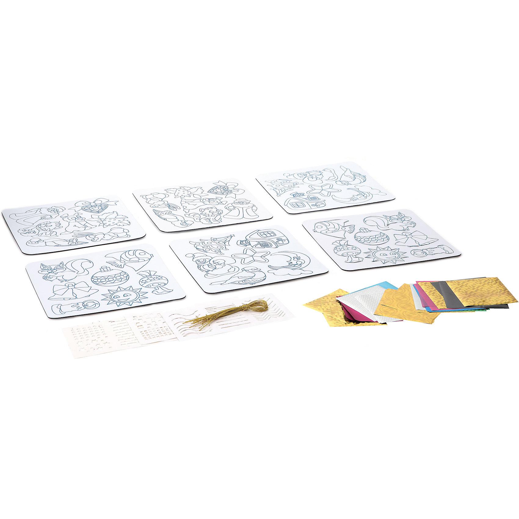Bondibon Набор для творчества Ёлочные украшения с 3D-эффектом, Bondibon bondibon копилка в технике декопатч сердечко