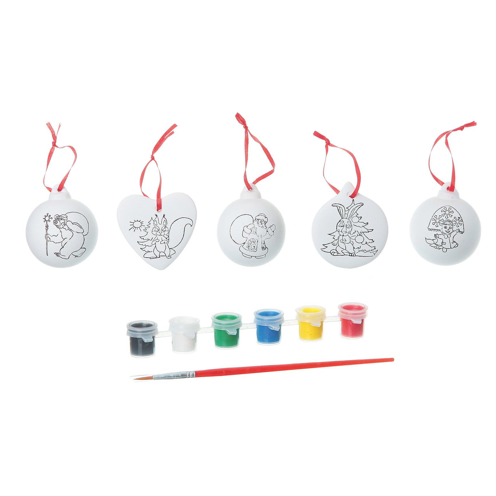 Набор для творчества с Машей (3 шарика, сердце, круг), BondibonНабор для творчества с Машей (3 шарика, сердце, круг), Bondibon (Бондибон).<br><br>Характеристики:<br><br>• Материал: керамика, краски, текстиль.<br>• В набор входит: <br>- 5 керамических фигурок для раскрашивания, <br>- краски 6 цветов,<br>- кисточка, <br>- инструкция.<br><br>Создайте новогоднее настроение вместе со своими детьми! Набор для творчества с Машей поможет вам провести творчески досуг и создаст праздничное настроение. В наборе 5 керамических фигурок для раскрашивания: 3 шарика, круг, сердце, которые нужно раскрасить так, как вам подскажет фантазия. Раскрашивать изделия из керамики - очень интересно и увлекательно. Такие фигурки, раскрашенные вручную, станут отличным подарком! Работа с таким набором помогает развить творческие способности, усидчивость, внимательность, самостоятельность, координацию движений.<br><br>Набор для творчества с Машей (3 шарика, сердце, круг) Bondibon (Бондибон), можно купить в нашем интернет – магазине.<br><br>Ширина мм: 262<br>Глубина мм: 60<br>Высота мм: 222<br>Вес г: 550<br>Возраст от месяцев: 60<br>Возраст до месяцев: 1188<br>Пол: Унисекс<br>Возраст: Детский<br>SKU: 5124537