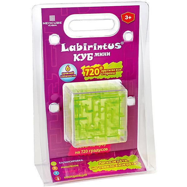Лабиринтус Куб,  6см, зелёный, прозрачный, LabirintusГоловоломки - лабиринты<br>Лабиринтус Куб,  6см, зелёный, прозрачный, Labirintus<br><br>Лабиринт из различных дорожек в прозрачномкубе ведет к цели металлический шарик, путем вращения прозрачной сферы в руках. <br>Игрушка, предназначенная развивать терпение, ловкость, память, моторику и пространственное мышление.<br><br>Вес: 0,10<br>Инд. упаковка: коробка<br>Материал: пластик, металл<br>Размеры ДхВхШ: 0,13х0,19х0,035<br><br>Ширина мм: 130<br>Глубина мм: 350<br>Высота мм: 190<br>Вес г: 100<br>Возраст от месяцев: 48<br>Возраст до месяцев: 192<br>Пол: Унисекс<br>Возраст: Детский<br>SKU: 5124644