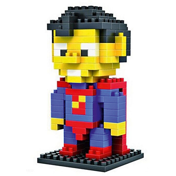 Конструктор Супер Мужик (Супермен), LozПластмассовые конструкторы<br>Конструктор Супер Мужик, Loz<br><br>Конструкторы компании Loz - это необычные конструкторы. Они состоят из множества маленьких деталей - наноблоков. Конструктор Diamond Block Супер Мужик - один из конструкторов подарочной серии. Это настоящая головоломка, так как для того чтобы собрать модель, Вам потребуется пара часов и немало терпения. Результатом работы станет забавная фигурка популярного героя из комиксов - Супер Мужика или, более известного нам Супермена.<br><br>В набор входит 150 деталей конструктора и подробная инструкция.<br>Ширина мм: 75; Глубина мм: 75; Высота мм: 75; Вес г: 60; Возраст от месяцев: 48; Возраст до месяцев: 192; Пол: Мужской; Возраст: Детский; SKU: 5124650;
