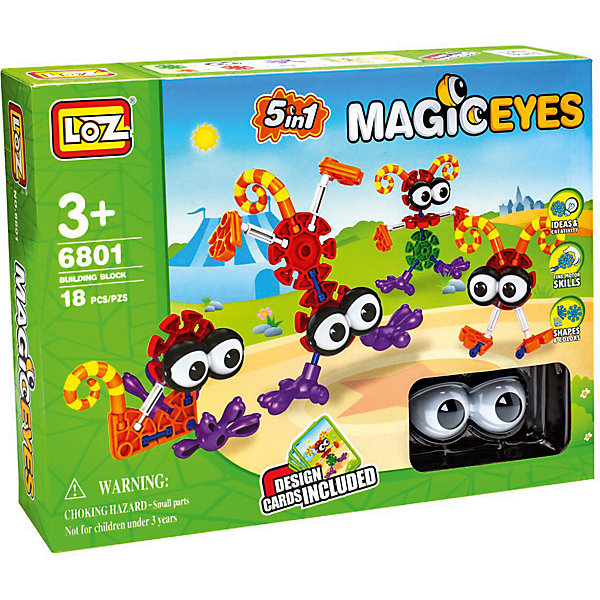 Конструктор Большеглазики, 5 в 1, LozПластмассовые конструкторы<br>Конструктор Большеглазики, 5 в 1, Loz<br><br> Модель: 5 в 1 будет замечательным подарком для Вашего ребенка. С его помощью Ваш ребенок сможет собрать 5 моделей забавных глазастиков. Такая игрушка хорошо влияет на развитие у ребенка мелкой моторики, логического мышления, внимательности и усидчивости.<br><br>Дополнительная информация:<br><br>В наборе 18 деталей + инструкция. <br>Материал: пластмасса.<br><br>Конструктор Большеглазики, 5 в 1, Loz можно купить в нашем интернет-магазине.<br>Ширина мм: 60; Глубина мм: 300; Высота мм: 225; Вес г: 440; Возраст от месяцев: 96; Возраст до месяцев: 192; Пол: Мужской; Возраст: Детский; SKU: 5124664;