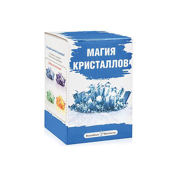 Набор для выращивания кристаллов Синий, Магия кристалловВыращивание кристаллов<br>Набор для выращивания кристаллов Синий, Магия кристаллов, Бумбарам.<br><br>Характеристики:<br><br>• подходит для первых химических опытов<br>• прост в применении<br>• яркие цвета<br>• развивает внимательность и усидчивость<br>• в комплекте: баночка, специальный порошок, таблетка-основа, ложка, перчатки<br>• размер: 8х8х12 см<br>• вес: 115 грамм<br><br>Если ваш ребенок начал интересоваться химическими опытами, то его обязательно порадует набор для выращивания кристаллов Синий, Магия кристаллов. С его помощью ребенок с легкостью сможет провести интересный опыт и вырастить синий кристалл, который украсит его комнату. В комплекте есть пошаговая инструкция, благодаря которой процесс создания станет легким и увлекательным. Кристаллы начинают появляться уже через несколько минут, а спустя некоторое время вы сможете насладиться прекрасным сиянием готового шедевра!<br><br>Набор для выращивания кристаллов Синий, Магия кристаллов, Бумбарам вы можете купить в нашем интернет-магазине.<br>Ширина мм: 120; Глубина мм: 80; Высота мм: 80; Вес г: 115; Возраст от месяцев: 72; Возраст до месяцев: 108; Пол: Унисекс; Возраст: Детский; SKU: 5124678;