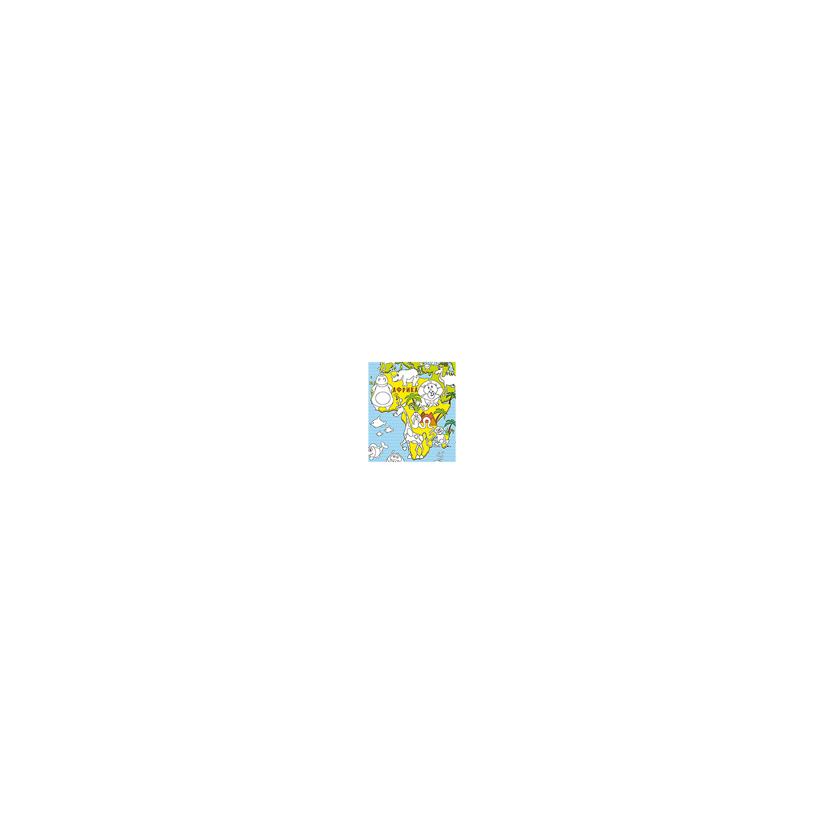 "Карта-раскраска ""Карта мира Животные"" от myToys"