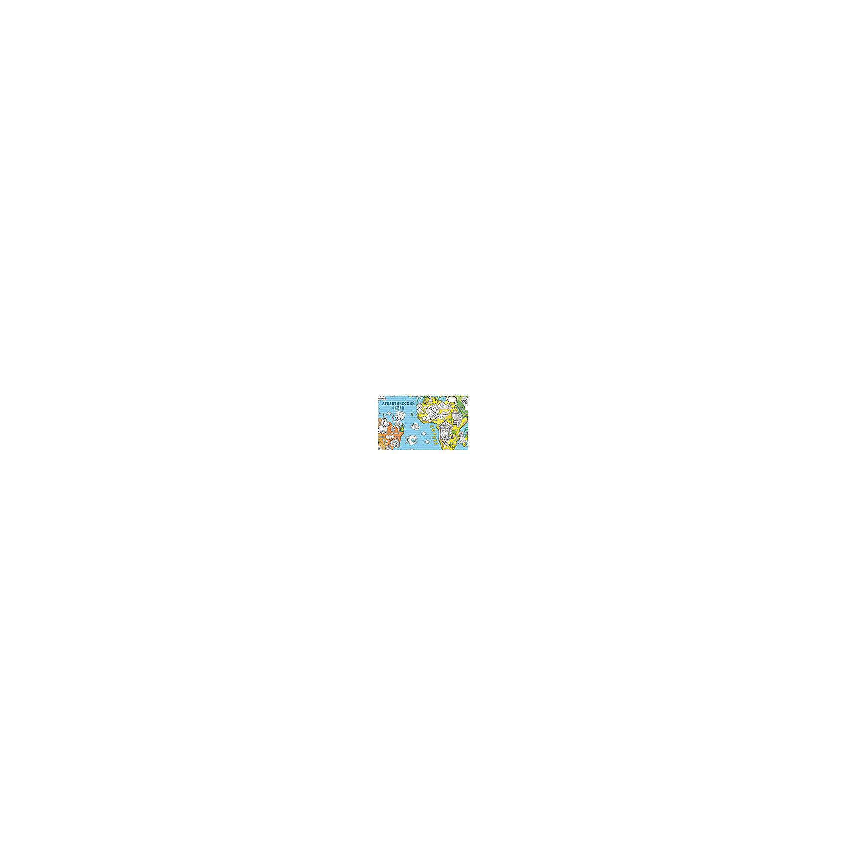 """Карта-раскраска настенная карта мира """"Страны"""" от myToys"""