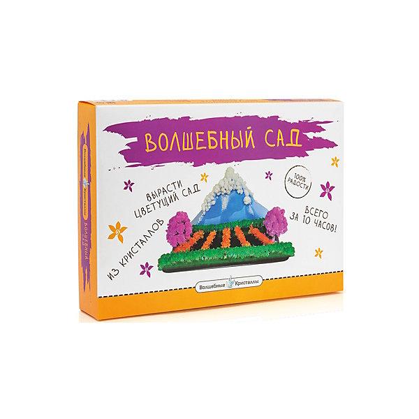 Набор для выращивания кристаллов Волшебный садВыращивание кристаллов<br>Волшебный сад, Бумбарам.<br><br>Характеристики:<br><br>• подходит для первых химических опытов<br>• прост в применении<br>• яркие цвета<br>• развивает внимательность и усидчивость<br>• в комплекте: 2 длинные картонные полоски, 5 коротких картонных, картонная заготовка горы, 5 пакетиков со специальным раствором для выращивания кристаллов<br>• размер: 5х24х34 см<br>• вес: 330 грамм<br>• готовую поделку рекомендуется покрыть лаком для волос<br><br>С помощью набора Волшебный сад ребенок сможет познать тайны минералогии и создать прекрасный сад, выполненный в виде природного ландшафта. Нанесите реактивы на основу, следуя пошаговой инструкции - уже через несколько минут сад начнет оживать. Спустя 10 часов сад полностью расцветет и порадует вас своей красочностью. Этот эксперимент, несомненно, понравится ребенку и вызовет интерес к творчеству.<br><br>Волшебный сад, Бумбарам вы можете купить в нашем интернет-магазине.<br><br>Ширина мм: 340<br>Глубина мм: 240<br>Высота мм: 50<br>Вес г: 330<br>Возраст от месяцев: 72<br>Возраст до месяцев: 144<br>Пол: Женский<br>Возраст: Детский<br>SKU: 5124690