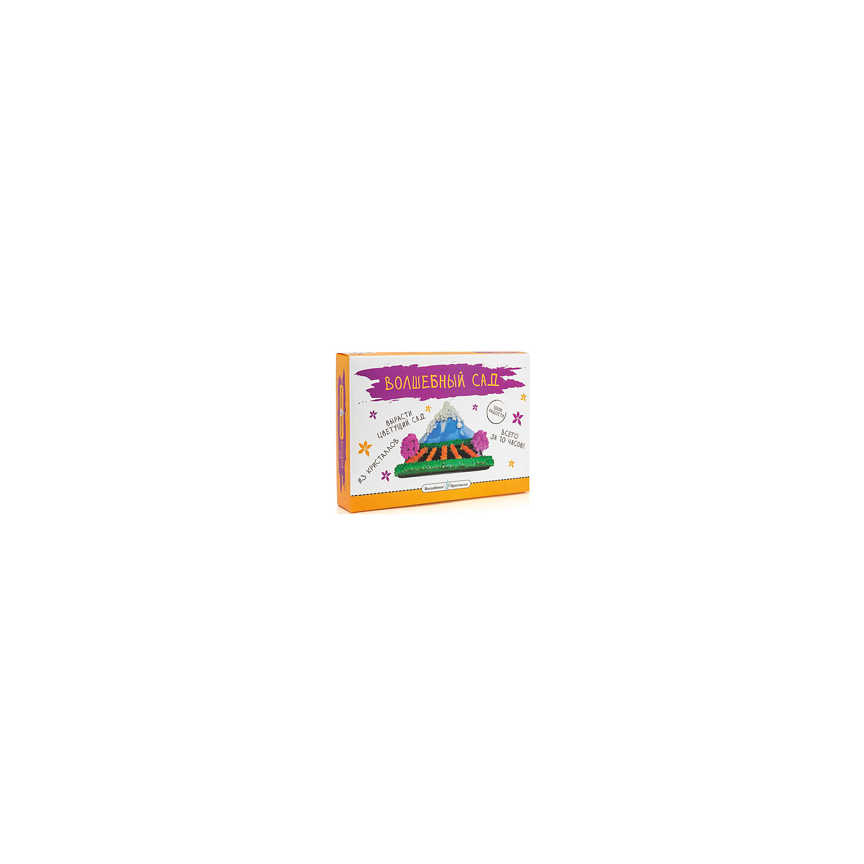 Набор для выращивания кристаллов Волшебный садКристаллы<br>Волшебный сад, Бумбарам.<br><br>Характеристики:<br><br>• подходит для первых химических опытов<br>• прост в применении<br>• яркие цвета<br>• развивает внимательность и усидчивость<br>• в комплекте: 2 длинные картонные полоски, 5 коротких картонных, картонная заготовка горы, 5 пакетиков со специальным раствором для выращивания кристаллов<br>• размер: 5х24х34 см<br>• вес: 330 грамм<br>• готовую поделку рекомендуется покрыть лаком для волос<br><br>С помощью набора Волшебный сад ребенок сможет познать тайны минералогии и создать прекрасный сад, выполненный в виде природного ландшафта. Нанесите реактивы на основу, следуя пошаговой инструкции - уже через несколько минут сад начнет оживать. Спустя 10 часов сад полностью расцветет и порадует вас своей красочностью. Этот эксперимент, несомненно, понравится ребенку и вызовет интерес к творчеству.<br><br>Волшебный сад, Бумбарам вы можете купить в нашем интернет-магазине.<br><br>Ширина мм: 340<br>Глубина мм: 240<br>Высота мм: 50<br>Вес г: 330<br>Возраст от месяцев: 72<br>Возраст до месяцев: 144<br>Пол: Женский<br>Возраст: Детский<br>SKU: 5124690