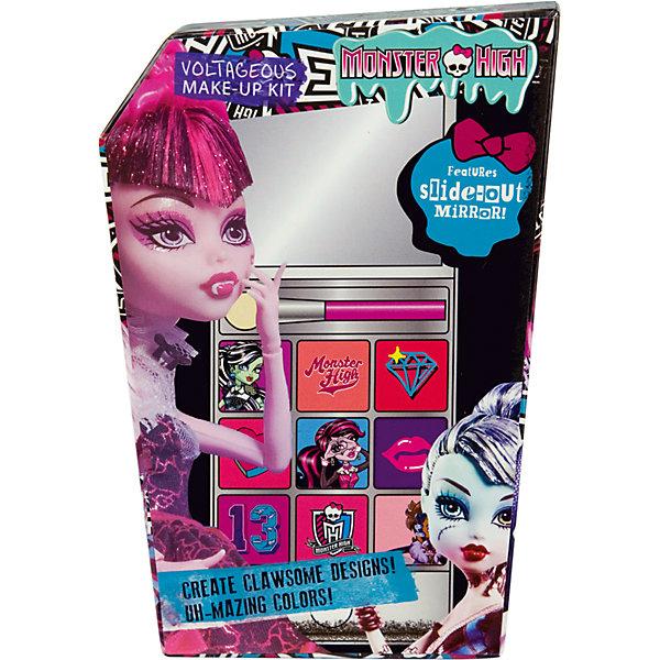 Набор детской косметики Monster High - iPhone 5Наборы детской косметики<br>Характеристики:<br><br>• Наименование: детская декоративная косметика<br>• Предназначение: для сюжетно-ролевых игр<br>• Серия: Monster High<br>• Пол: для девочки<br>• Материал: натуральные косметические компоненты, пластик, картон<br>• Цвет: в ассортименте<br>• Комплектация: палитра кремовых теней из 9 оттенков, аппликатор, футляр в виде iPhone 5 с зеркальцем<br>• Размеры (Д*Ш*В): 16*12*5 см<br>• Вес: 135 г <br>• Упаковка: картонная коробка<br><br>Игровой набор детской декоративной косметики iPhone 5, Monster High – это набор игровой детской косметики от Markwins, которая вот уже несколько десятилетий специализируется на выпуске детской косметики. Рецептура декоративной детской косметики разработана совместно с косметологами и медиками, в основе рецептуры – водная основа, а потому она гипоаллергенны, не вызывает раздражений на детской коже и легко смывается, не оставляя следа. Безопасность продукции подтверждена международными сертификатами качества и безопасности. <br>Игровой набор детской декоративной косметики состоит из палитры теней для век кремовых оттенков и аппликатора для их нанесения. Косметические средства, входящие в состав набора, имеют длительный срок хранения – 12 месяцев. Набор выполнен в брендовом дизайне популярной серии Monster High, с футляром в виде имитации iPhone 5. Игровой набор детской декоративной косметики от Markwins может стать незаменимым праздничным подарком для любой маленькой модницы!<br><br>Игровой набор детской декоративной косметики iPhone 5, Monster High можно купить в нашем интернет-магазине.<br><br>Ширина мм: 110<br>Глубина мм: 150<br>Высота мм: 40<br>Вес г: 174<br>Возраст от месяцев: 48<br>Возраст до месяцев: 120<br>Пол: Женский<br>Возраст: Детский<br>SKU: 5124702