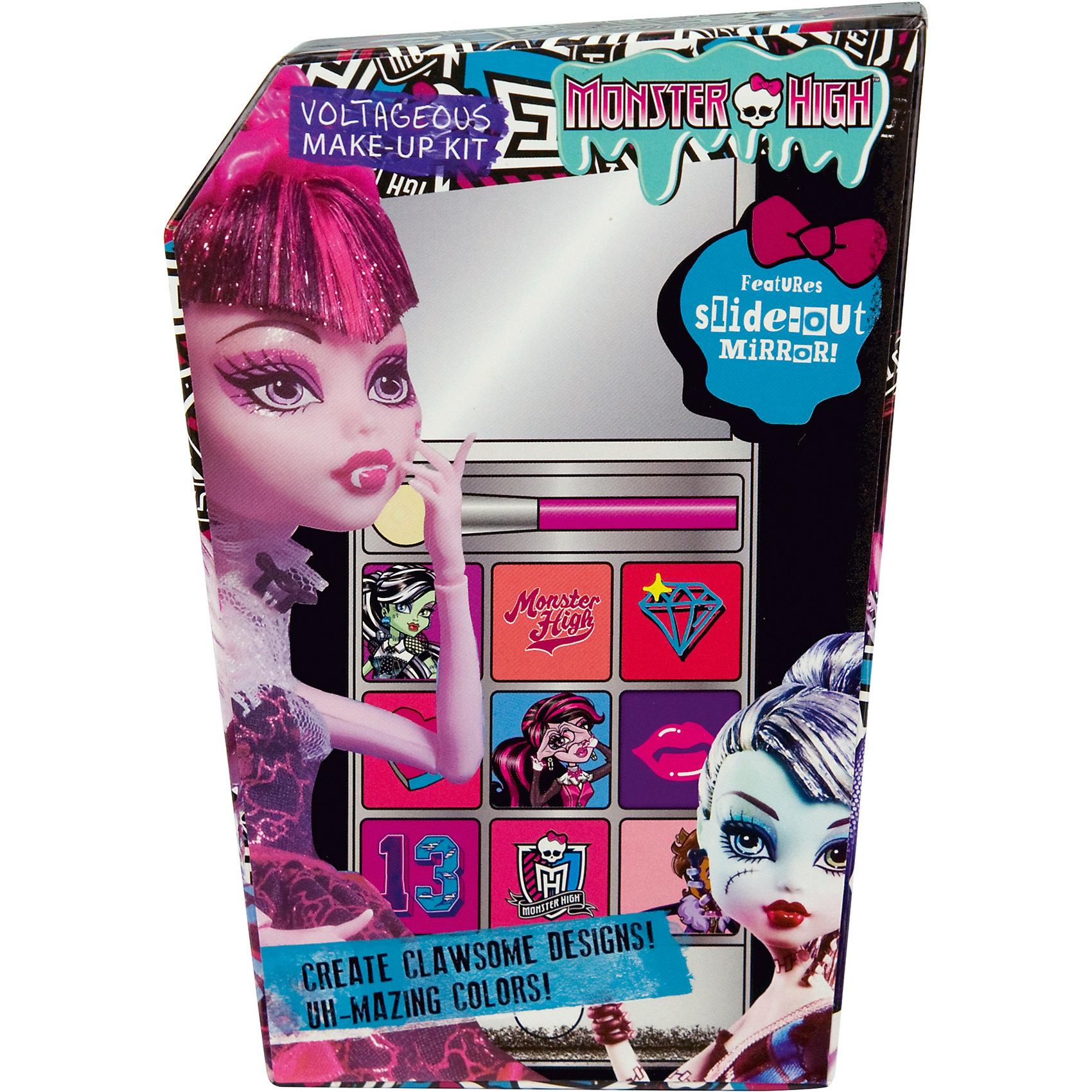 Набор детской косметики Monster High - iPhone 5Характеристики:<br><br>• Наименование: детская декоративная косметика<br>• Предназначение: для сюжетно-ролевых игр<br>• Серия: Monster High<br>• Пол: для девочки<br>• Материал: натуральные косметические компоненты, пластик, картон<br>• Цвет: в ассортименте<br>• Комплектация: палитра кремовых теней из 9 оттенков, аппликатор, футляр в виде iPhone 5 с зеркальцем<br>• Размеры (Д*Ш*В): 16*12*5 см<br>• Вес: 135 г <br>• Упаковка: картонная коробка<br><br>Игровой набор детской декоративной косметики iPhone 5, Monster High – это набор игровой детской косметики от Markwins, которая вот уже несколько десятилетий специализируется на выпуске детской косметики. Рецептура декоративной детской косметики разработана совместно с косметологами и медиками, в основе рецептуры – водная основа, а потому она гипоаллергенны, не вызывает раздражений на детской коже и легко смывается, не оставляя следа. Безопасность продукции подтверждена международными сертификатами качества и безопасности. <br>Игровой набор детской декоративной косметики состоит из палитры теней для век кремовых оттенков и аппликатора для их нанесения. Косметические средства, входящие в состав набора, имеют длительный срок хранения – 12 месяцев. Набор выполнен в брендовом дизайне популярной серии Monster High, с футляром в виде имитации iPhone 5. Игровой набор детской декоративной косметики от Markwins может стать незаменимым праздничным подарком для любой маленькой модницы!<br><br>Игровой набор детской декоративной косметики iPhone 5, Monster High можно купить в нашем интернет-магазине.<br><br>Ширина мм: 110<br>Глубина мм: 150<br>Высота мм: 40<br>Вес г: 174<br>Возраст от месяцев: 48<br>Возраст до месяцев: 120<br>Пол: Женский<br>Возраст: Детский<br>SKU: 5124702
