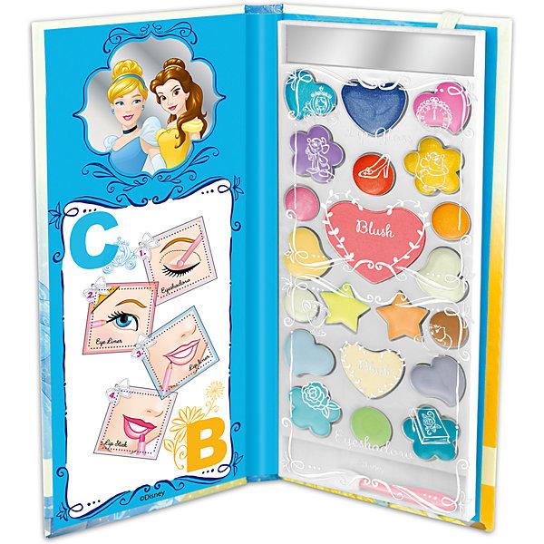 Набор детской косметики в книжке Принцессы ДиснеяНаборы детской косметики<br>Характеристики:<br><br>• Наименование: детская декоративная косметика<br>• Предназначение: для сюжетно-ролевых игр<br>• Серия: Принцессы Диснея<br>• Пол: для девочки<br>• Материал: натуральные косметические компоненты, пластик, картон<br>• Цвет: в ассортименте<br>• Комплектация: палитра блеска для губ из 10 оттенков, 2 оттенка румян, 9 оттенков кремовых теней, аппликатор, зеркальце<br>• Размеры (Д*Ш*В): 19*8*1 см<br>• Вес: 100 г <br>• Упаковка: футляр в виде книжки<br><br>Внимание! Дизайн упаковки и элементов набора могут варьироваться и отличаться от представленного на фото.<br><br>Игровой набор детской декоративной косметики в книжке СВ, Принцессы Дисней – это набор игровой детской косметики от Markwins, которая вот уже несколько десятилетий специализируется на выпуске детской косметики. Рецептура декоративной детской косметики разработана совместно с косметологами и медиками, в основе рецептуры – водная основа, а потому она гипоаллергенны, не вызывает раздражений на детской коже и легко смывается, не оставляя следа. Безопасность продукции подтверждена международными сертификатами качества и безопасности. <br>Игровой набор детской декоративной косметики состоит из палитры нежных оттенков блеска для губ, румян и теней в оригинальном футляре в виде книжки, внутри которой имеется зекральце. Косметические средства, входящие в состав набора, имеют длительный срок хранения – 12 месяцев. Набор выполнен в брендовом дизайне популярной серии Принцессы Диснея с изображением Белль и Золушки. Игровой набор детской декоративной косметики от Markwins может стать незаменимым праздничным подарком для любой маленькой модницы!<br><br>Игровой набор детской декоративной косметики в книжке СВ, Принцессы Дисней можно купить в нашем интернет-магазине.<br><br>Ширина мм: 195<br>Глубина мм: 10<br>Высота мм: 90<br>Вес г: 144<br>Возраст от месяцев: 48<br>Возраст до месяцев: 120<br>Пол: Женский<br>Возраст: Детский<br>