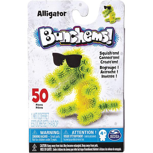 Набор Крокодил, BunchemsПластмассовые конструкторы<br>Набор Крокодил, Bunchems (Банчемс).<br><br>Характеристики:<br><br>- Возраст: от 4 лет<br>- Для мальчиков и девочек<br>- В наборе: 50 шариков-репейников (39 – зеленых, 8 – желтых, 3 – белых), очки, инструкция<br>- Диаметр шарика-репейника: 2 см.<br>- Высота готовой фигурки: 12 см.<br>- Материал: мягкий качественный нетоксичный пластик, окрашенный в яркие цвета гипоаллергенными красителями<br>- Размер упаковки: 11,5 x 4,5 x 18,4 см.<br>- Упаковка: картонная коробка<br><br>С помощью мягкого конструктора-липучки Bunchems (Банчемс) Крокодил от торговой марки Spin Master ваш малыш сможет собрать фигурку симпатичного крокодила. А дополнительный аксессуар, очки, сделает образ животного более забавным. Конструктор работает на простом и эффективном принципе, который создатели этой серии игрушек подсмотрели у природы! Элементы конструктора - шарики - с помощью мини-крючков легко соединяются между собой и также легко разъединяются, как репейник. В результате горсти таких шариков можно придавать разнообразную форму. Для лучшего сцепления необходимо как можно плотнее прижимать детали. Получившаяся фигурка не разваливается, с ней можно играть дома, на улице, в ванной – где угодно! Элементы конструктора выполнены из мягкого безопасного пластика, в центре шариков находятся отверстия для аксессуаров. Конструктор отлично развивает фантазию и пространственное мышление ребенка. Элементы конструктора упакованы в специальную картонную коробку, цвета шариков разделены при помощи поддона с ячейками. С конструктором не рекомендуется играть детям младше 4 лет. Перед игрой у девочек волосы следует собрать в хвост или в пучок во избежание запутывания игровых элементов! После окончания игры все детали убрать в коробку для исключения травмирующих ситуаций!<br><br>Набор Крокодил, Bunchems (Банчемс) можно купить в нашем интернет-магазине.<br><br>Ширина мм: 145<br>Глубина мм: 221<br>Высота мм: 233<br>Вес г: 300<br>Возраст от месяцев: 48<br>Возрас