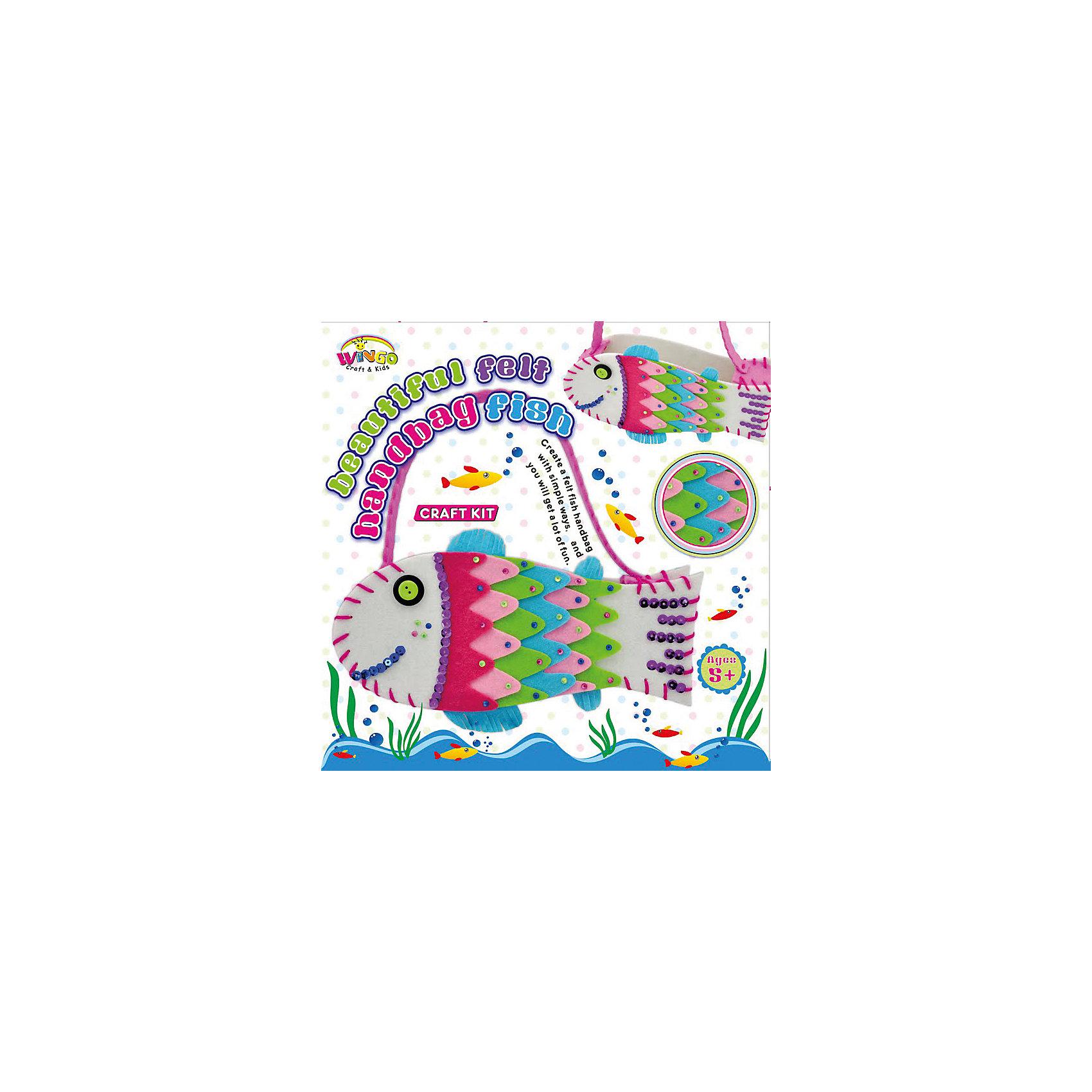 Набор для шитья Сумочка Сказочная рыбкаХарактеристики товара:<br><br>• материал упаковки: картон<br>• возраст: 3+<br>• комплектация: фетр, игла, нити<br>• страна производства: Китай<br><br>Научить маленького ребенка шить совсем простою Достаточно подобрать правильную игрушку или набор, подходящий для этого занятия. Создание яркой игрушки своими руками, безусловно, привлечет внимание даже самого непоседливого малыша. Шитье развивает мелкую моторику, а так же улучшает аккуратность. После игры у малыша будет игрушка, созданная своими руками. Материалы, использованные при изготовлении товара, сертифицированы и отвечают всем международным требованиям по качеству. <br><br>Набор «Набор для шитья Сумочка Сказочная рыбка» можно приобрести в нашем интернет-магазине.<br><br>Ширина мм: 45<br>Глубина мм: 220<br>Высота мм: 220<br>Вес г: 132<br>Возраст от месяцев: 36<br>Возраст до месяцев: 84<br>Пол: Женский<br>Возраст: Детский<br>SKU: 5124738