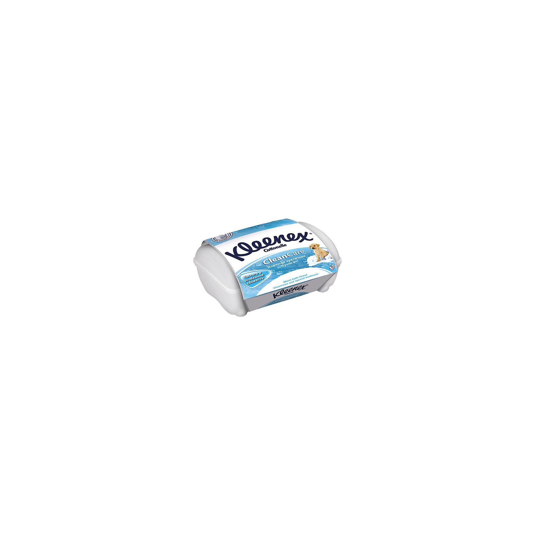 Kleenex Влажная туалетная бумага в Контейнере 42 шт., Kleenex туалетная бумага с анекдотами