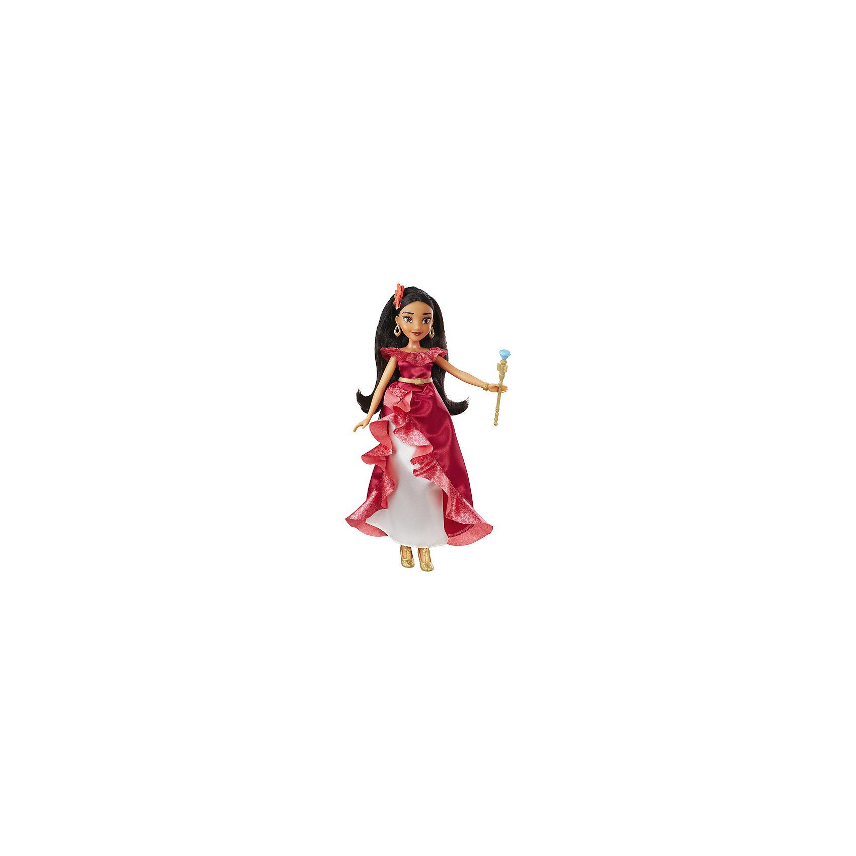 Кукла Принцессы Дисней Hasbro, Елена из АвалорИдеи подарков<br>Характеристики:<br><br>• возраст: от 3 лет;<br>• материал: пластик, текстиль;<br>• в комплекте: кукла, аксессуары;<br>• размер упаковки: 33,2х21,8х15,7 см;<br>• вес упаковки: 238 гр.;<br>• страна производитель: Китай.<br><br>Классическая модная кукла «Елена из Авалор» Принцессы Дисней Hasbro — героиня мультсериала Дисней. Елена одета в алое платье и золотистые туфельки. У нее выразительные глаза, длинные темные волосы, украшенные цветком, а в руках Елена держит скипетр. Кукла выполнена из качественных материалов.<br><br>Классическую модную куклу «Елена из Авалор» Принцессы Дисней Hasbro можно приобрести в нашем интернет-магазине.<br><br>Ширина мм: 327<br>Глубина мм: 149<br>Высота мм: 55<br>Вес г: 194<br>Возраст от месяцев: 36<br>Возраст до месяцев: 2147483647<br>Пол: Женский<br>Возраст: Детский<br>SKU: 5129135