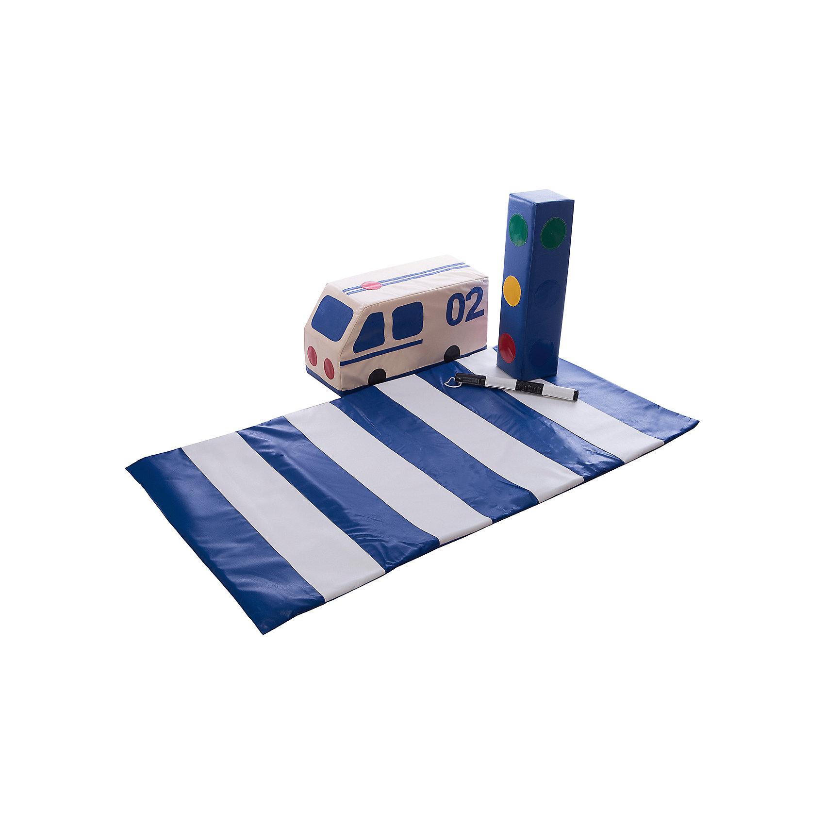 Игровой набор Грамотный пешеход, ROMANAИгровой набор Грамотный пешеход, ROMANA - игровой набор, с которым ваш ребенок сможет почувствовать себя настоящим регулировщиком дорожного движения.<br>Кроме того, набор может помочь вашем освоить правила безопасности дорожного движения.<br><br>Дополнительная информация:<br><br>Габаритные размеры, мм 1400 х 1500<br>Высота, мм 600 <br>Светофор 600 х 150 х 150 - 1 шт.<br>Полиция (машина) 600 х 300 х 300 - 1 шт.<br>Пешеходный переход (дорожка) 1500 x 800 x 10 - 1 шт.<br>Жезл d20 h400 - 1 шт. <br>Материалы поролон, винилискожа<br><br>Ширина мм: 1400<br>Глубина мм: 1500<br>Высота мм: 600<br>Вес г: 1200<br>Возраст от месяцев: 36<br>Возраст до месяцев: 96<br>Пол: Унисекс<br>Возраст: Детский<br>SKU: 5129365