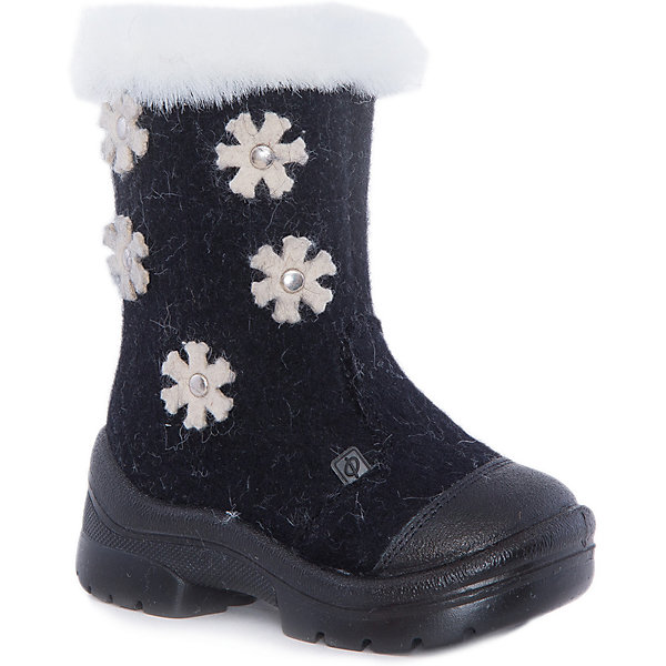 Валенки Зимняя ночь ФилипокВаленки<br>Характеристики товара:<br><br>• цвет: черный<br>• температурный режим: от -5° С до -30° С<br>• внешний материал: эко-войлок (натуральная шерсть)<br>• подкладка: натуральная овечья шерсть<br>• стелька: шерстяной войлок (3,5 мм)<br>• подошва: литая, полиуретан<br>• декорированы аппликацией<br>• подошва с анти скользящей с системой протектора anti slip<br>• застежка: молния<br>• защита носка - натуральная кожа с износостойкой пропиткой<br>• усиленная пятка<br>• толстая устойчивая подошва<br>• страна бренда: РФ<br>• страна изготовитель: РФ<br><br>Очень теплые и удобные валенки для ребенка от известного бренда детской обуви Филипок созданы специально для русской зимы. Качественные материалы с пропиткой против попадания воды внутрь и модный дизайн понравятся и малышам и их родителям. Подошва и стелька обеспечат ребенку комфорт, сухость и тепло, позволяя в полной мере наслаждаться зимним отдыхом. Усиленная защита пятки и носка обеспечивает дополнительную безопасность детских ног в этих сапожках.<br>Эта красивая и удобная обувь прослужит долго благодаря отличному качеству. Производитель анти скользящее покрытие и амортизирующие свойства подошвы! Модель производится из качественных и проверенных материалов, которые безопасны для детей.<br><br>Валенки от бренда Филипок можно купить в нашем интернет-магазине.<br>Ширина мм: 257; Глубина мм: 180; Высота мм: 130; Вес г: 420; Цвет: черный; Возраст от месяцев: 60; Возраст до месяцев: 72; Пол: Унисекс; Возраст: Детский; Размер: 29,22,32,31,30,28,27,26,25,24,23; SKU: 5132391;
