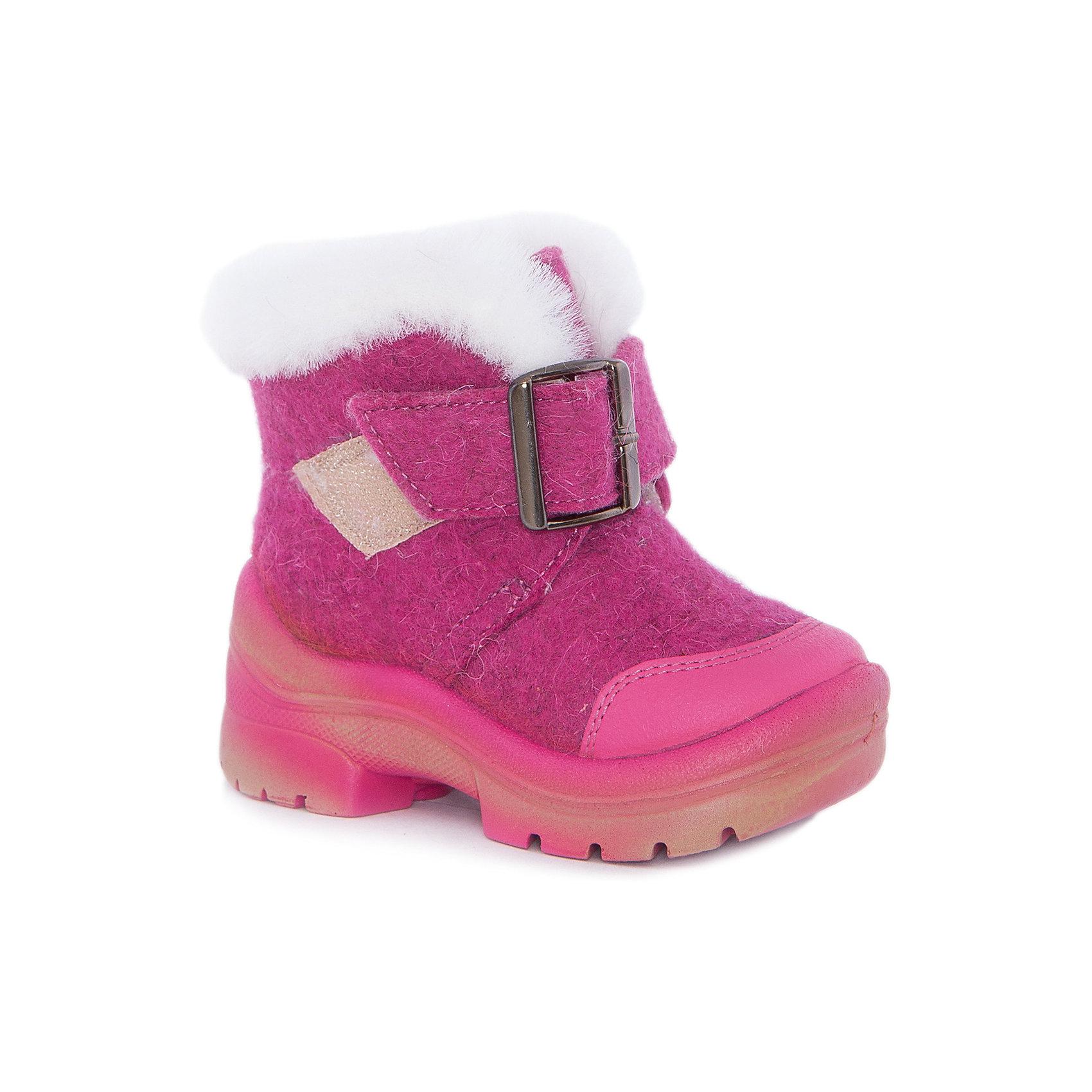 Валенки Ариша для девочки ФилипокХарактеристики товара:<br><br>• цвет: розовый<br>• температурный режим: от -5° С до -30° С<br>• внешний материал: эко-войлок (натуральная шерсть)<br>• подкладка: натуральная овечья шерсть<br>• стелька: шерстяной войлок (3,5 мм)<br>• подошва: литая, полиуретан<br>• декорированы искусственным мехом и пряжкой<br>• подошва с анти скользящей с системой протектора anti slip<br>• защита носка - натуральная кожа с износостойкой пропиткой<br>• усиленная пятка<br>• толстая устойчивая подошва<br>• страна бренда: РФ<br>• страна изготовитель: РФ<br><br>Очень теплые и удобные валенки для ребенка от известного бренда детской обуви Филипок созданы специально для русской зимы. Качественные материалы с пропиткой против попадания воды внутрь и модный дизайн понравятся и малышам и их родителям. Подошва и стелька обеспечат ребенку комфорт, сухость и тепло, позволяя в полной мере наслаждаться зимним отдыхом. Усиленная защита пятки и носка обеспечивает дополнительную безопасность детских ног в этих сапожках.<br>Эта красивая и удобная обувь прослужит долго благодаря отличному качеству. Производитель анти скользящее покрытие и амортизирующие свойства подошвы! Модель производится из качественных и проверенных материалов, которые безопасны для детей.<br><br>Валенки для девочки от бренда Филипок можно купить в нашем интернет-магазине.<br><br>Ширина мм: 257<br>Глубина мм: 180<br>Высота мм: 130<br>Вес г: 420<br>Цвет: розовый<br>Возраст от месяцев: 15<br>Возраст до месяцев: 18<br>Пол: Женский<br>Возраст: Детский<br>Размер: 22,30,29,28,27,26,25,24,23<br>SKU: 5132401