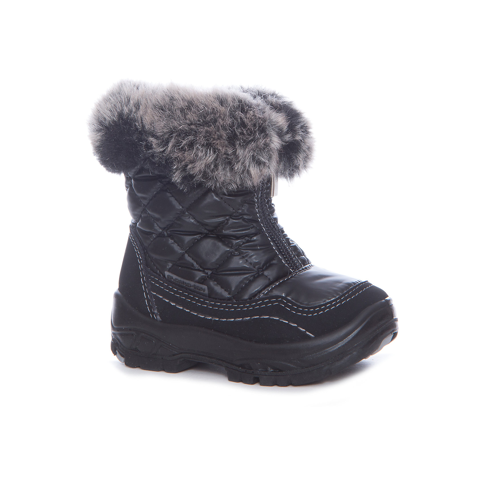 Сапоги для девочки Alaska OriginaleСапоги для девочки Alaska Originale<br>Зимняя обувь с мембранным слоем для активных прогулок. Температурный режим от 0 до -25С.<br>Состав: Верх:54%ПЭ;46%ПА ; Подкладка:100%овечья шерсть Подошва:Полиуретан+Термополиуретан<br><br>Ширина мм: 257<br>Глубина мм: 180<br>Высота мм: 130<br>Вес г: 420<br>Цвет: черный<br>Возраст от месяцев: 9<br>Возраст до месяцев: 12<br>Пол: Женский<br>Возраст: Детский<br>Размер: 20,27,26,25,24,23,22,21<br>SKU: 5134293