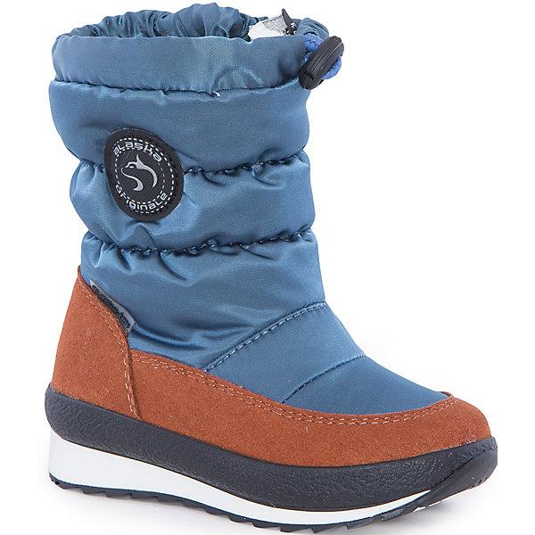 Сапоги  Alaska OriginaleДутики<br>Характеристики товара:<br><br>• цвет: голубой<br>• материал верха: 54% ПЭ, 46% ПА<br>• материал подкладки: текстиль <br>• материал подошвы: термопластик<br>• температурный режим: от-25° до 0° С<br>• мембранный слой<br>• рифленая подошва<br>• застежка: молния<br>• толстая устойчивая подошва<br>• усиленные пятка и носок<br>• страна бренда: Италия<br>• страна изготовитель: Румыния<br><br>Чтобы не пропустить главные зимние удовольствия, нужно запастись теплой и удобной обувью! Такие сапожки обеспечат ребенку необходимый для активного отдыха комфорт, а мембранный слой позволит ножкам оставаться сухими: он выводит наружу лишнюю влагу, не пропуская жидкости внутрь. Сапожки легко надеваются и снимаются, отлично сидят на ноге. <br>Обувь от итальянского бренда Alaska Originale - это качественные товары, созданные с применением новейших технологий и с использованием как натуральных, так и высокотехнологичных материалов. Обувь отличается стильным дизайном и продуманной конструкцией. Изделие производится из качественных и проверенных материалов, которые безопасны для детей.<br><br>Сапоги от бренда Alaska Originale можно купить в нашем интернет-магазине.<br><br>Ширина мм: 257<br>Глубина мм: 180<br>Высота мм: 130<br>Вес г: 420<br>Цвет: голубой<br>Возраст от месяцев: 18<br>Возраст до месяцев: 21<br>Пол: Женский<br>Возраст: Детский<br>Размер: 23,27,26,25,24<br>SKU: 5134421