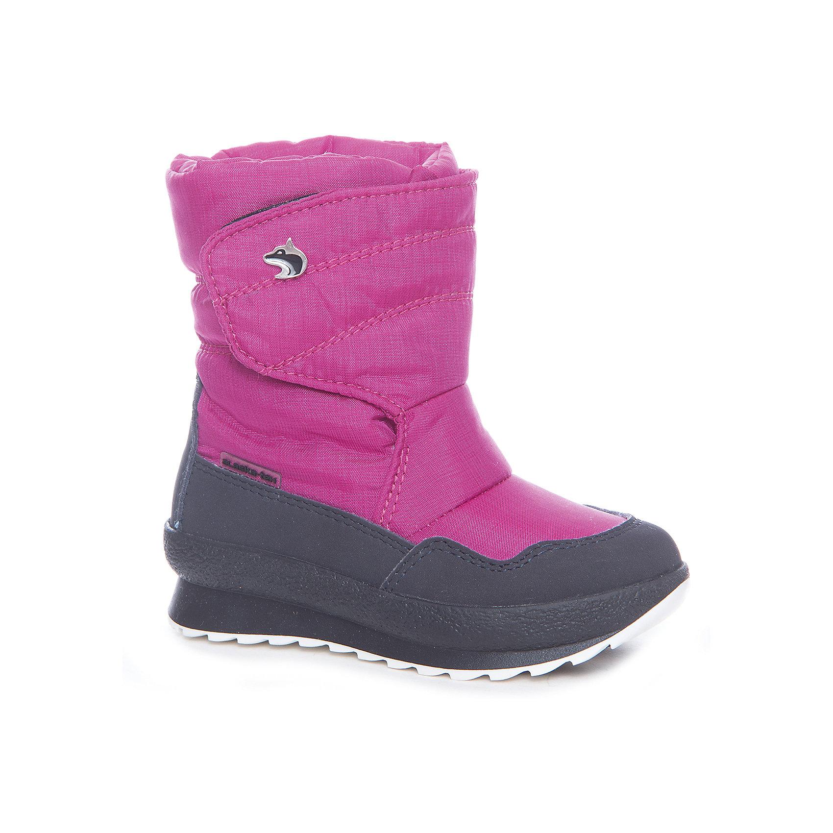 Сапоги  Alaska OriginaleДутики<br>Характеристики товара:<br><br>• цвет: розовый<br>• материал верха: 54% ПЭ, 46% ПА<br>• материал подкладки: текстиль <br>• материал подошвы: термопластик<br>• температурный режим: от-25° до 0° С<br>• мембранный слой<br>• рифленая подошва<br>• застежка: липучка<br>• толстая устойчивая подошва<br>• усиленные пятка и носок<br>• страна бренда: Италия<br>• страна изготовитель: Румыния<br><br>Качественная обувь особенна важна в суровых условиях русской зимы. Чтобы не пропустить главные зимние удовольствия, нужно запастись теплой и удобной обувью! Такие сапожки обеспечат ребенку необходимый для активного отдыха комфорт, а мембранный слой позволит ножкам оставаться сухими: он выводит наружу лишнюю влагу, не пропуская жидкости внутрь. Сапожки легко надеваются и снимаются, отлично сидят на ноге. <br>Обувь от итальянского бренда Alaska Originale - это качественные товары, созданные с применением новейших технологий и с использованием как натуральных, так и высокотехнологичных материалов. Обувь отличается стильным дизайном и продуманной конструкцией. Изделие производится из качественных и проверенных материалов, которые безопасны для детей.<br><br>Сапоги от бренда Alaska Originale можно купить в нашем интернет-магазине.<br><br>Ширина мм: 257<br>Глубина мм: 180<br>Высота мм: 130<br>Вес г: 420<br>Цвет: розовый<br>Возраст от месяцев: 24<br>Возраст до месяцев: 36<br>Пол: Женский<br>Возраст: Детский<br>Размер: 26,33,34,35,25,27,31,28,32,29,30<br>SKU: 5134449