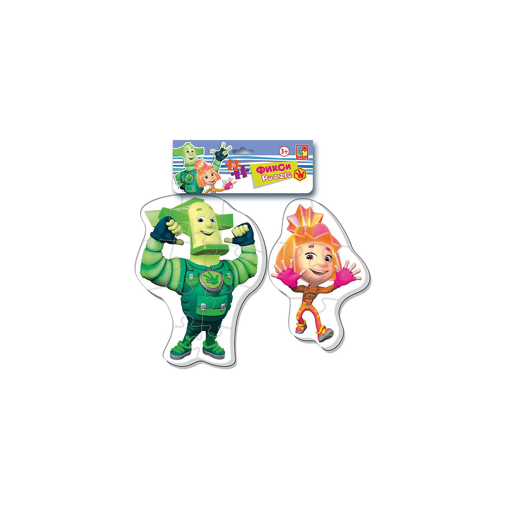 Мягкие макси-пазлы Фиксики, Vladi ToysПопулярные игрушки<br>Характеристики:<br><br>• Вид игр: развивающие<br>• Серия: макси-пазлы <br>• Пол: универсальный<br>• Материал: полимер, картон<br>• Цвет: белый, голубой, розовый и др.<br>• Комплектация: 2 пазла (один из 4 деталей, второй из 8 деталей)<br>• Размеры (Д*Ш*В): 21*1*35 см<br>• Тип упаковки: полиэтиленовый пакет с хедером<br>• Вес: 35 г<br>• Общее количество элементов: 12 шт.<br><br>Мягкие макси-пазлы Фиксики, Vladi Toys, производителем которых является компания, специализирующаяся на выпуске развивающих игр, давно уже стали популярными среди аналогичной продукции. Мягкие пазлы – идеальное решение для развивающих занятий с самыми маленькими детьми, так как они разделены на большие элементы с крупными изображениями, чаще всего в качестве картинок используются герои популярных мультсериалов. Самое важное в пазле для малышей – это минимум деталей и безопасность элементов. Все используемые в производстве материалы являются экологически безопасными, не вызывают аллергии, не имеют запаха. Набор макси-пазлов Фиксики, Vladi Toys состоит из 12-ти элементов, из которых можно собрать две картинки с изображениями Маси и Нолика из мультфильма Фиксики. <br>Занятия с мягкими макси-пазлами Фиксики, Vladi Toys способствуют развитию не только мелкой моторики, но и внимательности, усидчивости, терпению при достижении цели. <br><br>Мягкие макси-пазлы Фиксики, Vladi Toys можно купить в нашем интернет-магазине.<br><br>Ширина мм: 210<br>Глубина мм: 10<br>Высота мм: 350<br>Вес г: 35<br>Возраст от месяцев: 24<br>Возраст до месяцев: 60<br>Пол: Унисекс<br>Возраст: Детский<br>SKU: 5136066