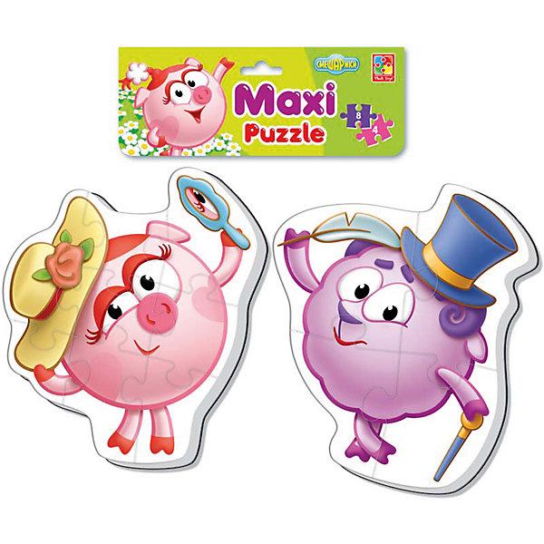 Мягкие макси-пазлы  Смешарики, Vladi ToysПазлы для малышей<br>Характеристики:<br><br>• Вид игр: развивающие<br>• Серия: макси-пазлы <br>• Пол: универсальный<br>• Материал: полимер, картон<br>• Цвет: розовый, желтый, сиреневый и др.<br>• Комплектация: 2 пазла (один из 4 деталей, второй из 8 деталей) <br>• Размеры (Д*Ш*В): 21*1*35 см<br>• Тип упаковки: полиэтиленовый пакет с хедером<br>• Вес: 36 г<br>• Общее количество элементов: 12 шт.<br><br>Мягкие макси-пазлы Смешарики, Vladi Toys, производителем которых является компания, специализирующаяся на выпуске развивающих игр, давно уже стали популярными среди аналогичной продукции. Мягкие пазлы – идеальное решение для развивающих занятий с самыми маленькими детьми, так как они разделены на большие элементы с крупными изображениями, чаще всего в качестве картинок используются герои популярных мультсериалов. Самое важное в пазле для малышей – это минимум деталей и безопасность элементов. Все используемые в производстве материалы являются экологически безопасными, не вызывают аллергии, не имеют запаха. Набор состоит из 12-ти элементов, из которых можно собрать две картинки с изображениями Нюши и Бараша из мультфильма Смешарики. <br>Мягкие макси-пазлы Смешарики, Vladi Toys способствуют развитию не только мелкой моторики, но и внимательности, усидчивости, терпению при достижении цели. <br><br>Мягкие пазлы Смешарики, Vladi Toys можно купить в нашем интернет-магазине.<br><br>Ширина мм: 210<br>Глубина мм: 10<br>Высота мм: 350<br>Вес г: 36<br>Возраст от месяцев: 24<br>Возраст до месяцев: 60<br>Пол: Унисекс<br>Возраст: Детский<br>SKU: 5136069