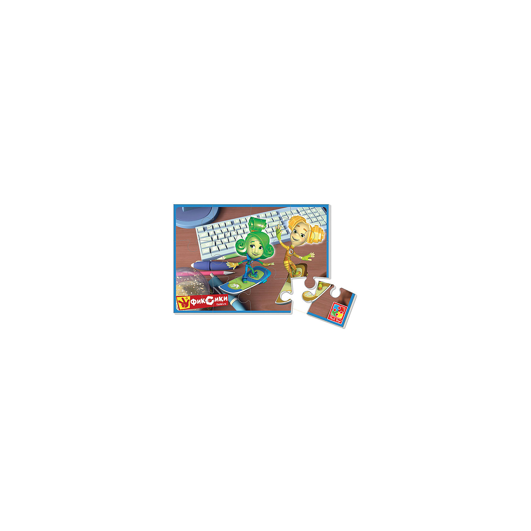 Мягкие пазлы  А5 Фиксики, Vladi ToysХарактеристики:<br><br>• Вид игр: развивающие<br>• Серия: пазлы-картинки<br>• Пол: универсальный<br>• Материал: полимер, картон<br>• Цвет: желтый, зеленый и др.<br>• Комплектация: 1 пазл из 12-ти элементов<br>• Размеры (Д*Ш*В): 18*4*28,5 см<br>• Тип упаковки: картонная коробка<br>• Вес: 20 г<br><br>Мягкие пазлы А5 Фиксики, Vladi Toys, производителем которых является компания, специализирующаяся на выпуске развивающих игр, давно уже стали популярными среди аналогичной продукции. Мягкие пазлы – идеальное решение для развивающих занятий с самыми маленькими детьми, так как они разделены на большие элементы с крупными изображениями, чаще всего в качестве картинок используются герои популярных мультсериалов. Самое важное в пазле для малышей – это минимум деталей и безопасность элементов. Все используемые в производстве материалы являются экологически безопасными, не вызывают аллергии, не имеют запаха. Пазл Фиксики, Vladi Toys представляет собой сюжетную картинку размером А5, которая состоит из 12-и крупных элементов с изображениями Верты и Шпули из мультфильма Фиксики. <br>Занятия с мягкими пазлами Фиксики, Vladi Toys способствуют развитию не только мелкой моторики, но и внимательности, усидчивости, терпению при достижении цели. Кроме того, по собранной картинке можно составлять рассказ, что позволит развивать речевые навыки, память и воображение.<br><br>Мягкие пазлы А5 Фиксики, Vladi Toys можно купить в нашем интернет-магазине.<br><br>Ширина мм: 180<br>Глубина мм: 4<br>Высота мм: 285<br>Вес г: 20<br>Возраст от месяцев: 24<br>Возраст до месяцев: 60<br>Пол: Унисекс<br>Возраст: Детский<br>SKU: 5136071