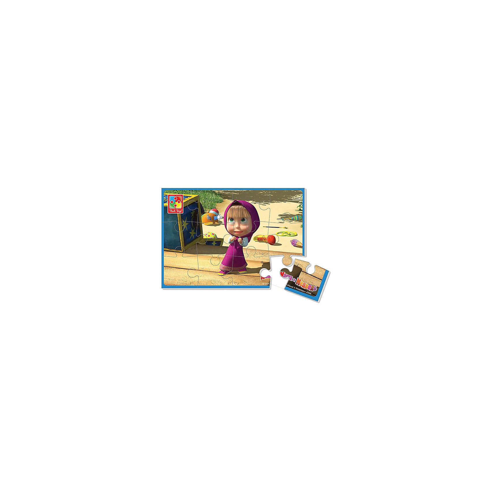 Мягкие пазлы А5 Маша, Маша и Медведь, Vladi ToysХарактеристики:<br><br>• Вид игр: развивающие<br>• Серия: пазлы-картинки<br>• Пол: универсальный<br>• Материал: полимер, картон<br>• Цвет: розовый, желтый, синий, зеленый и др.<br>• Комплектация: 1 пазл из 12-ти элементов<br>• Размеры (Д*Ш*В): 18*4*28,5 см<br>• Тип упаковки: картонная коробка<br>• Вес: 20 г<br><br>Мягкие пазлы А5 Маша, Маша и Медведь, производителем которых является компания, специализирующаяся на выпуске развивающих игр, давно уже стали популярными среди аналогичной продукции. Мягкие пазлы – идеальное решение для развивающих занятий с самыми маленькими детьми, так как они разделены на большие элементы с крупными изображениями, чаще всего в качестве картинок используются герои популярных мультсериалов. Самое важное в пазле для малышей – это минимум деталей и безопасность элементов. Все используемые в производстве материалы являются экологически безопасными, не вызывают аллергии, не имеют запаха. Пазл Маша, Маша и Медведь представляет собой сюжетную картинку размером А5, которая состоит из 12-и крупных элементов с изображением сюжета из мультфильма Маша и медведь. <br>Занятия с мягкими пазлами от Vladi Toys способствуют развитию не только мелкой моторики, но и внимательности, усидчивости, терпению при достижении цели. Кроме того, по собранной картинке можно составлять рассказ, что позволит развивать речевые навыки, память и воображение.<br><br>Мягкие пазлы А5 Маша, Маша и Медведь можно купить в нашем интернет-магазине.<br><br>Ширина мм: 180<br>Глубина мм: 4<br>Высота мм: 285<br>Вес г: 20<br>Возраст от месяцев: 24<br>Возраст до месяцев: 60<br>Пол: Унисекс<br>Возраст: Детский<br>SKU: 5136074