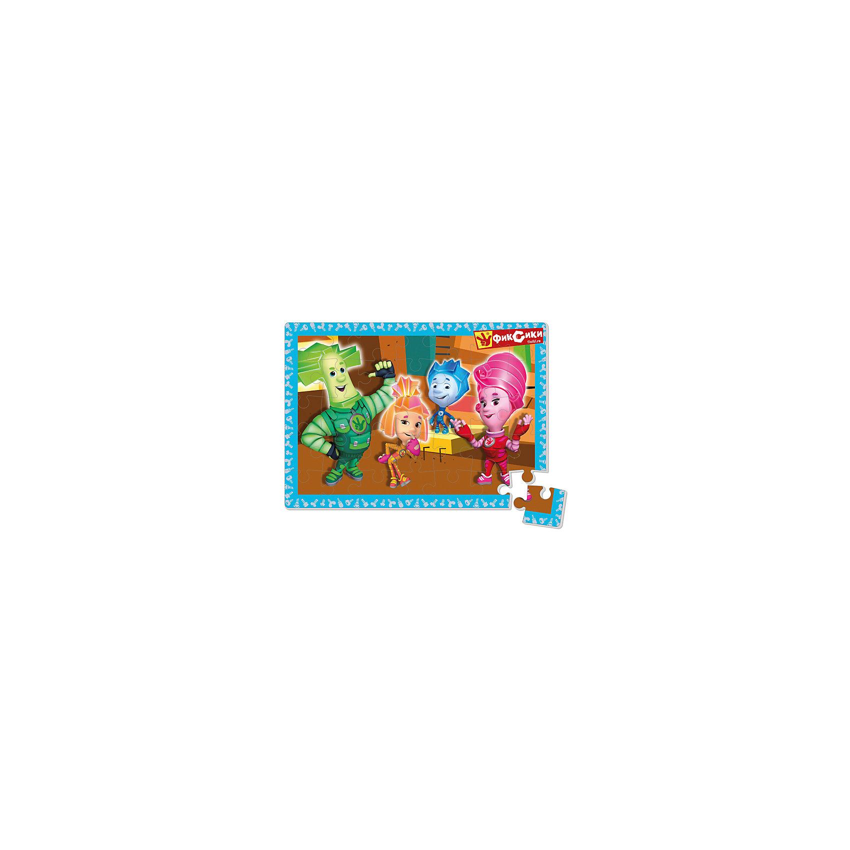Vladi Toys Мягкие пазлы А4 Фиксики, в коробке, Vladi Toys павлин мягкие пазлы