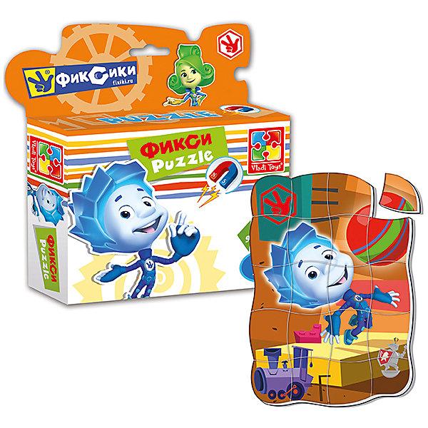 Магнитные фигурные пазлы Нолик, Фиксики, Vladi ToysПазлы для малышей<br>Характеристики:<br><br>• Вид игр: развивающие<br>• Серия: пазлы-магниты<br>• Пол: универсальный<br>• Материал: полимер, картон, магнит<br>• Цвет: голубой, оранжевый, желтый, зеленый, и др.<br>• Комплектация: 1 пазл из 20-ти элементов<br>• Размеры (Д*Ш*В): 16,5*4*19,5 см<br>• Тип упаковки: картонная коробка<br>• Вес: 94 г<br><br>Пазлы на магните Нолик, Фиксики, Vladi Toys, производителем которых является компания, специализирующаяся на выпуске развивающих игр, давно уже стали популярными среди аналогичной продукции. Мягкие пазлы – идеальное решение для развивающих занятий с самыми маленькими детьми, так как они разделены на большие элементы с крупными изображениями, чаще всего в качестве картинок используются герои популярных мультсериалов. Самое важное в пазле для малышей – это минимум деталей и безопасность элементов. Все используемые в производстве материалы являются экологически безопасными, не вызывают аллергии, не имеют запаха. Пазлы на магните Нолик, Фиксики, Vladi Toys представляет собой сюжетную картинку, которая состоит из 20-и крупных элементов с изображением Нолика с игрушками. <br>Занятия с мягкими пазлами от Vladi Toys способствуют развитию не только мелкой моторики, но и внимательности, усидчивости, терпению при достижении цели. Кроме того, по собранной картинке можно составлять рассказ, что позволит развивать речевые навыки, память и воображение.<br><br>Пазлы на магните Нолик, Фиксики, Vladi Toys можно купить в нашем интернет-магазине.<br>Ширина мм: 165; Глубина мм: 45; Высота мм: 195; Вес г: 94; Возраст от месяцев: 24; Возраст до месяцев: 60; Пол: Унисекс; Возраст: Детский; SKU: 5136089;