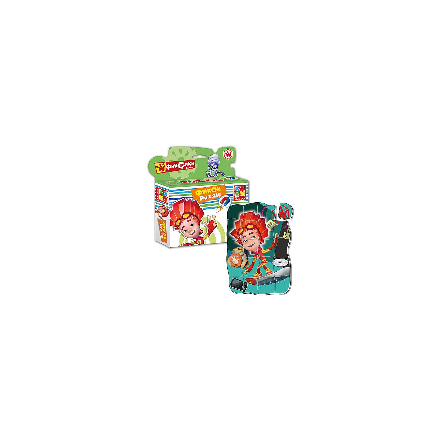 Магнитные фигурные пазлы Файер, Фиксики, , Vladi ToysПазлы для малышей<br>Характеристики:<br><br>• Вид игр: развивающие<br>• Серия: пазлы-магниты<br>• Пол: универсальный<br>• Материал: полимер, картон, магнит<br>• Цвет: красный, оранжевый, зеленый и др.<br>• Комплектация: 1 пазл из 20-ти элементов<br>• Размеры (Д*Ш*В): 16,5*4*19,5 см<br>• Тип упаковки: картонная коробка<br>• Вес: 94 г<br><br>Пазлы на магните Файер, Фиксики, Vladi Toys, производителем которых является компания, специализирующаяся на выпуске развивающих игр, давно уже стали популярными среди аналогичной продукции. Мягкие пазлы – идеальное решение для развивающих занятий с самыми маленькими детьми, так как они разделены на большие элементы с крупными изображениями, чаще всего в качестве картинок используются герои популярных мультсериалов. Самое важное в пазле для малышей – это минимум деталей и безопасность элементов. Все используемые в производстве материалы являются экологически безопасными, не вызывают аллергии, не имеют запаха. Пазлы на магните Файер, Фиксики, Vladi Toys представляет собой сюжетную картинку, которая состоит из 20-и крупных элементов с изображением Файер. <br>Занятия с мягкими пазлами от Vladi Toys способствуют развитию не только мелкой моторики, но и внимательности, усидчивости, терпению при достижении цели. Кроме того, по собранной картинке можно составлять рассказ, что позволит развивать речевые навыки, память и воображение.<br><br>Пазлы на магните Файер, Фиксики, Vladi Toys можно купить в нашем интернет-магазине.<br><br>Ширина мм: 165<br>Глубина мм: 45<br>Высота мм: 195<br>Вес г: 94<br>Возраст от месяцев: 24<br>Возраст до месяцев: 60<br>Пол: Унисекс<br>Возраст: Детский<br>SKU: 5136090