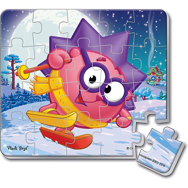 Мягкие магнитные пазлы в стакане Ежик, Смешарики, Vladi ToysПазлы для малышей<br>Характеристики:<br><br>• Вид игр: развивающие<br>• Серия: пазлы-магниты<br>• Пол: универсальный<br>• Материал: полимер, пластик, магнит<br>• Цвет: розовый, сиреневый, синий, белый и др.<br>• Комплектация: 1 пазл из 20-ти элементов, магнит<br>• Размеры (Д*Ш*В): 7,5*7,5*11 см<br>• Тип упаковки: пластиковый стакан <br>• Вес: 37 г<br><br>Мягкие магнитные пазлы в стакане Ежик, Смешарики, Vladi Toys, производителем которых является компания, специализирующаяся на выпуске развивающих игр, давно уже стали популярными среди аналогичной продукции. Мягкие пазлы – идеальное решение для развивающих занятий с самыми маленькими детьми, так как они разделены на большие элементы с крупными изображениями, чаще всего в качестве картинок используются герои популярных мультсериалов. Самое важное в пазле для малышей – это минимум деталей и безопасность элементов. Все используемые в производстве материалы являются экологически безопасными, не вызывают аллергии, не имеют запаха. Мягкие магнитные пазлы в стакане Ежик, Смешарики, Vladi Toys представляет собой сюжетную картинку, которая состоит из 20-и магнитных элементов с изображением Ежина на лыжах. <br>Занятия с мягкими пазлами от Vladi Toys способствуют развитию не только мелкой моторики, но и внимательности, усидчивости, терпению при достижении цели. Кроме того, по собранной картинке можно составлять рассказ, что позволит развивать речевые навыки, память и воображение.<br><br>Мягкие магнитные пазлы в стакане Ежик, Смешарики, Vladi Toys можно купить в нашем интернет-магазине.<br><br>Ширина мм: 75<br>Глубина мм: 75<br>Высота мм: 110<br>Вес г: 37<br>Возраст от месяцев: 24<br>Возраст до месяцев: 60<br>Пол: Унисекс<br>Возраст: Детский<br>SKU: 5136096