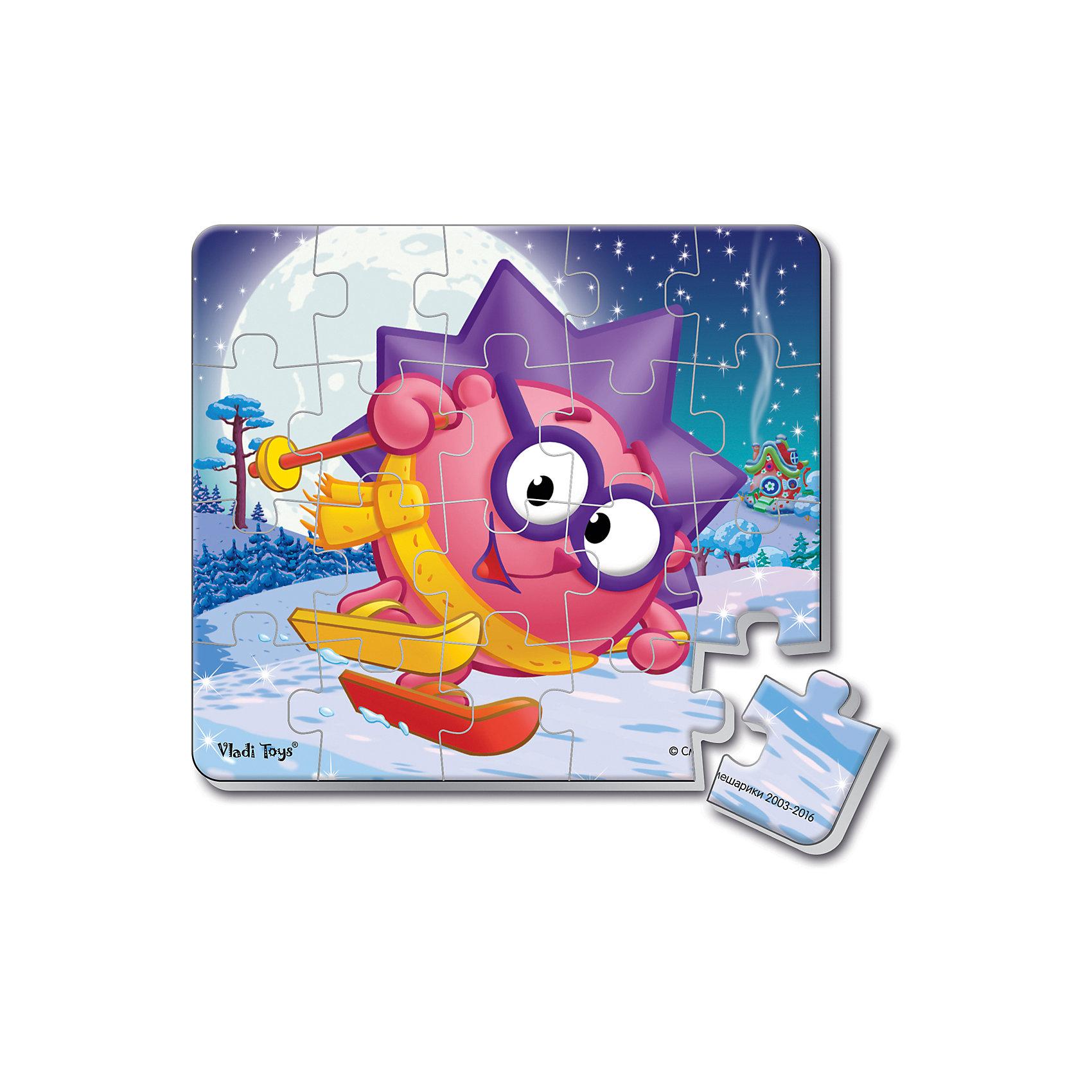 Мягкие магнитные пазлы в стакане Ежик, Смешарики, Vladi ToysХарактеристики:<br><br>• Вид игр: развивающие<br>• Серия: пазлы-магниты<br>• Пол: универсальный<br>• Материал: полимер, пластик, магнит<br>• Цвет: розовый, сиреневый, синий, белый и др.<br>• Комплектация: 1 пазл из 20-ти элементов, магнит<br>• Размеры (Д*Ш*В): 7,5*7,5*11 см<br>• Тип упаковки: пластиковый стакан <br>• Вес: 37 г<br><br>Мягкие магнитные пазлы в стакане Ежик, Смешарики, Vladi Toys, производителем которых является компания, специализирующаяся на выпуске развивающих игр, давно уже стали популярными среди аналогичной продукции. Мягкие пазлы – идеальное решение для развивающих занятий с самыми маленькими детьми, так как они разделены на большие элементы с крупными изображениями, чаще всего в качестве картинок используются герои популярных мультсериалов. Самое важное в пазле для малышей – это минимум деталей и безопасность элементов. Все используемые в производстве материалы являются экологически безопасными, не вызывают аллергии, не имеют запаха. Мягкие магнитные пазлы в стакане Ежик, Смешарики, Vladi Toys представляет собой сюжетную картинку, которая состоит из 20-и магнитных элементов с изображением Ежина на лыжах. <br>Занятия с мягкими пазлами от Vladi Toys способствуют развитию не только мелкой моторики, но и внимательности, усидчивости, терпению при достижении цели. Кроме того, по собранной картинке можно составлять рассказ, что позволит развивать речевые навыки, память и воображение.<br><br>Мягкие магнитные пазлы в стакане Ежик, Смешарики, Vladi Toys можно купить в нашем интернет-магазине.<br><br>Ширина мм: 75<br>Глубина мм: 75<br>Высота мм: 110<br>Вес г: 37<br>Возраст от месяцев: 24<br>Возраст до месяцев: 60<br>Пол: Унисекс<br>Возраст: Детский<br>SKU: 5136096